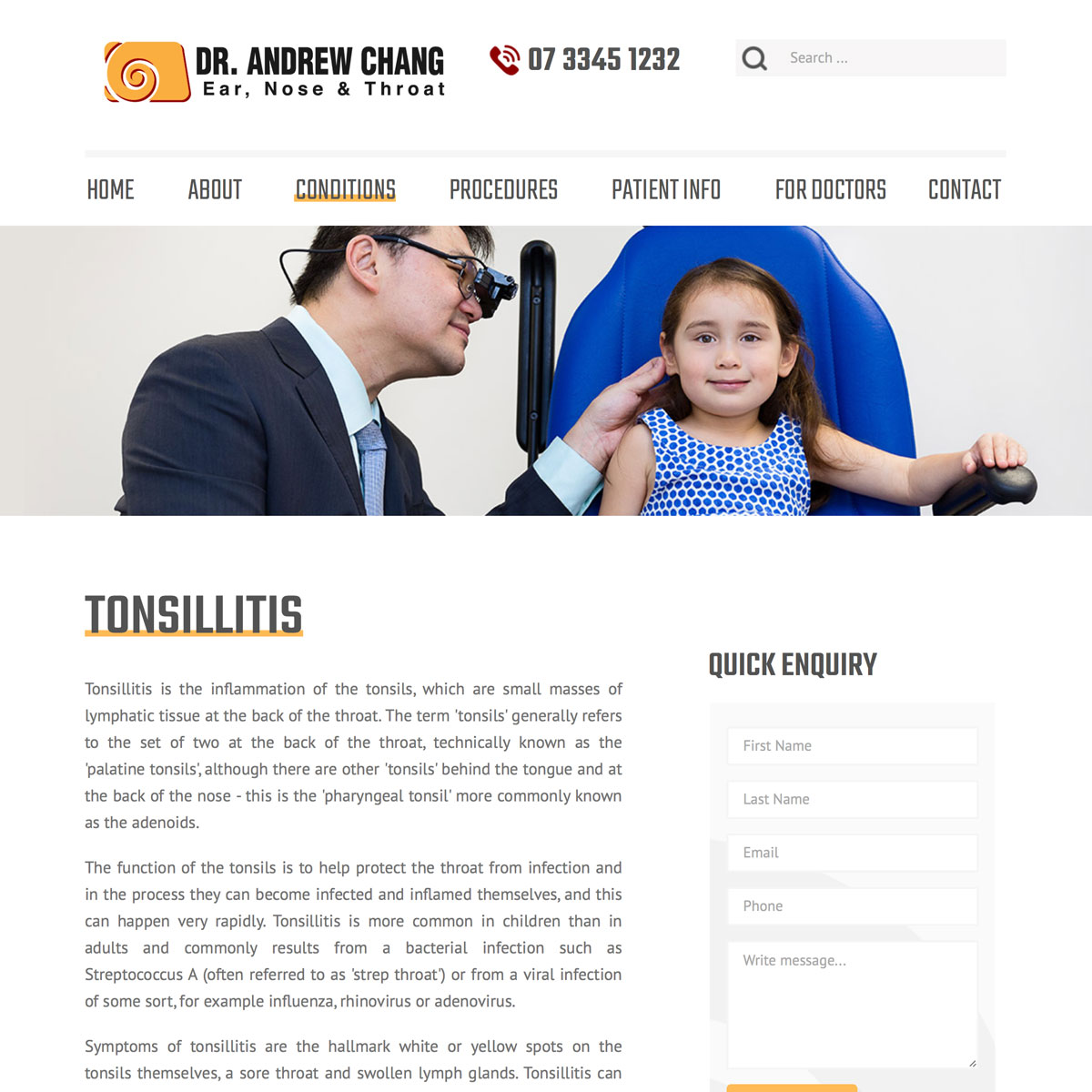 Dr Andrew Chang - Tonsillitis