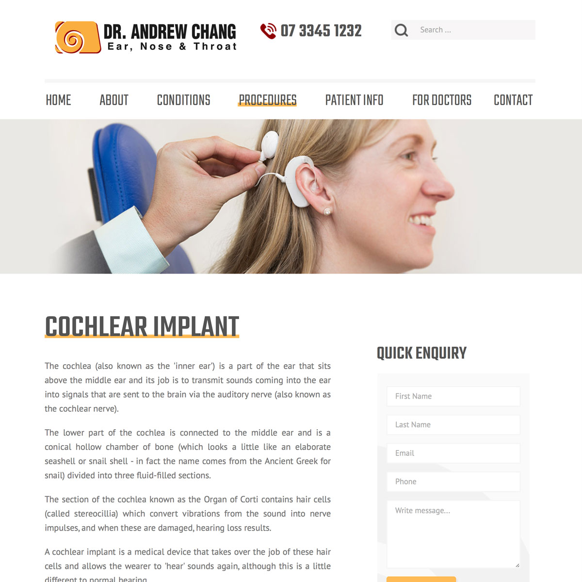 Dr Andrew Chang - Cochlear Implant