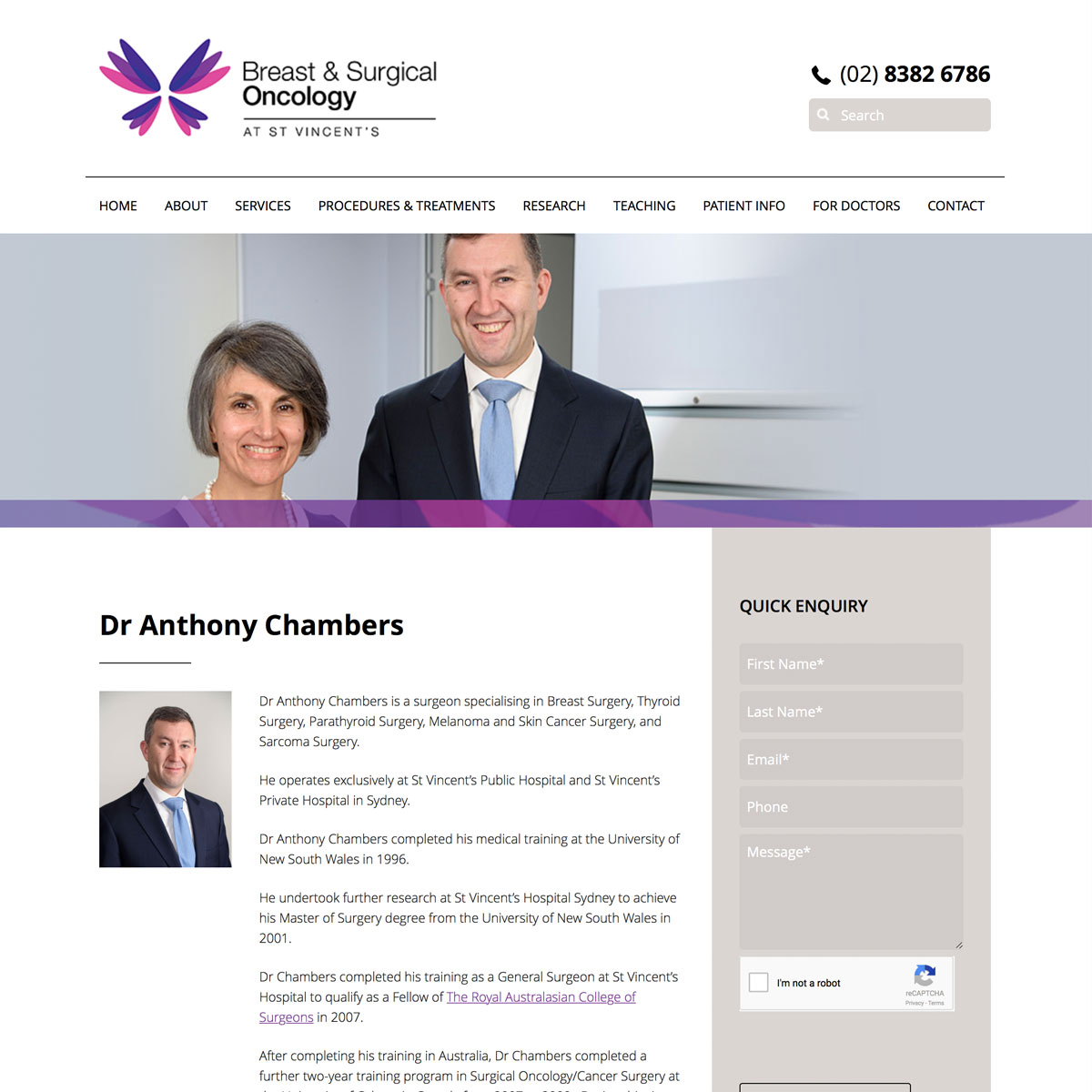 Surgical Oncology - Dr Anthony Chambers