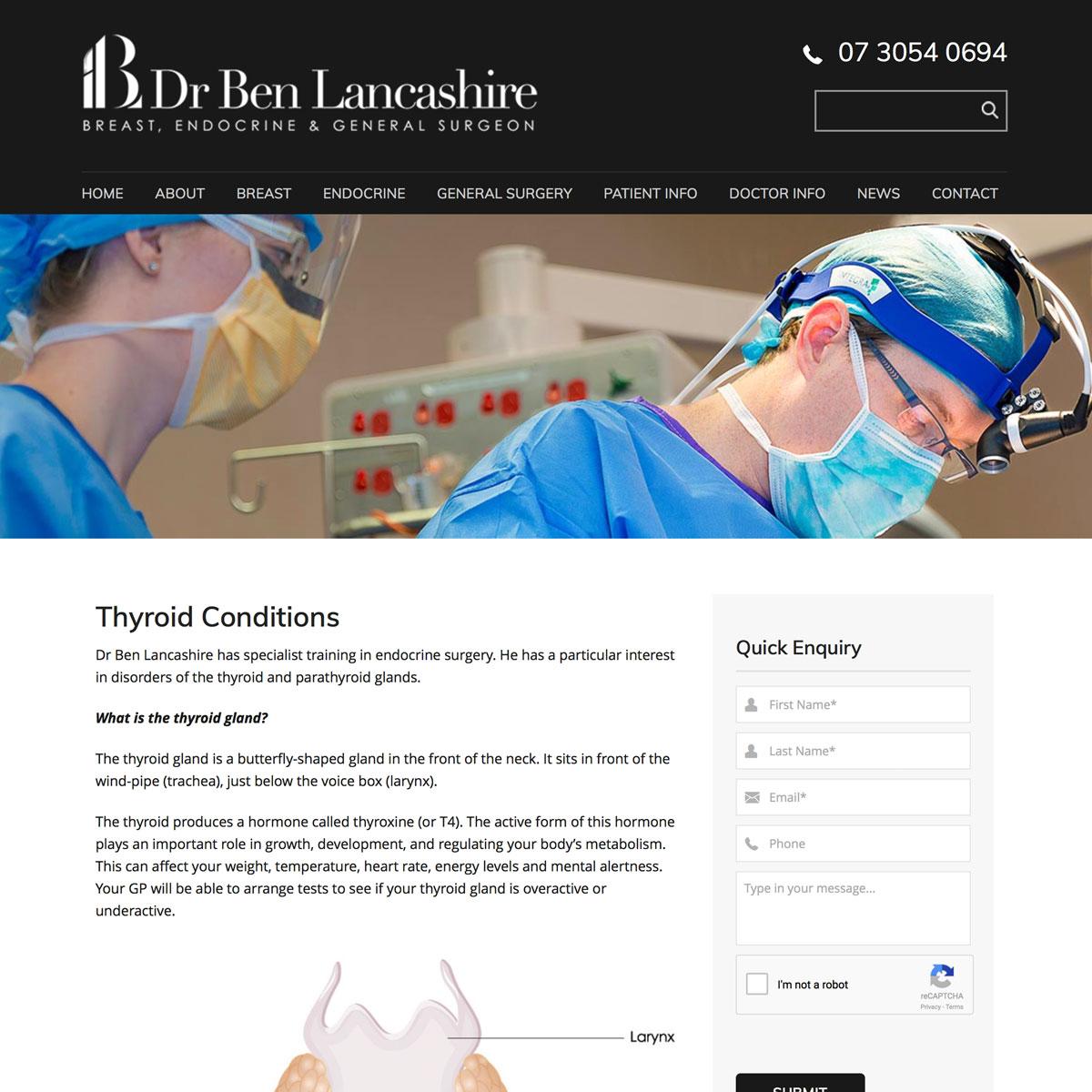 Dr Ben Lancashire - Thyroid