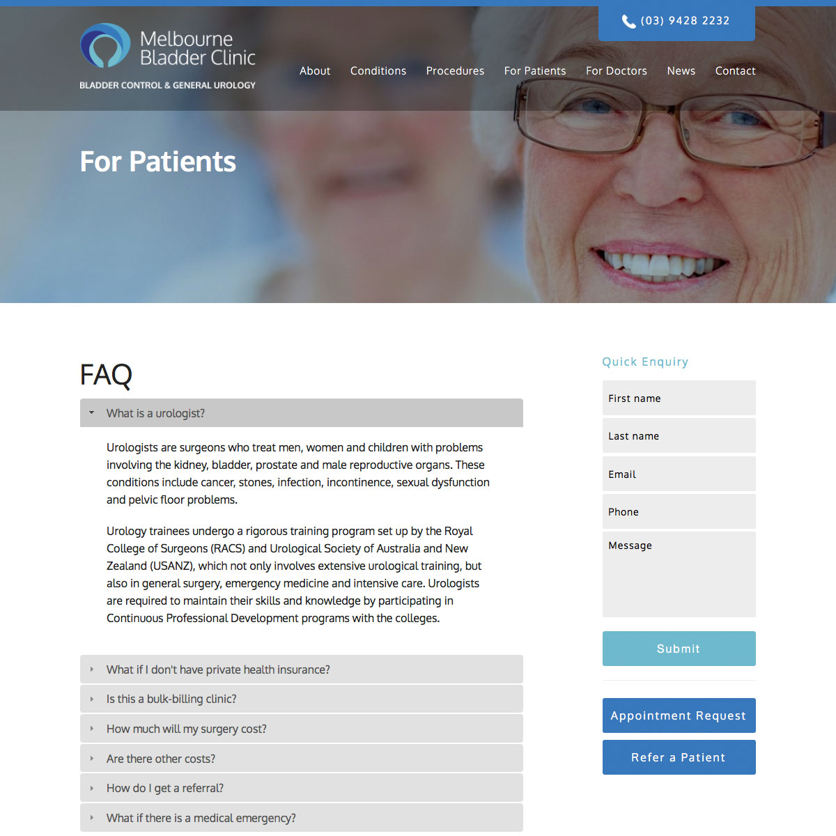 Melbourne Bladder Clinic Frequently Asked Questions