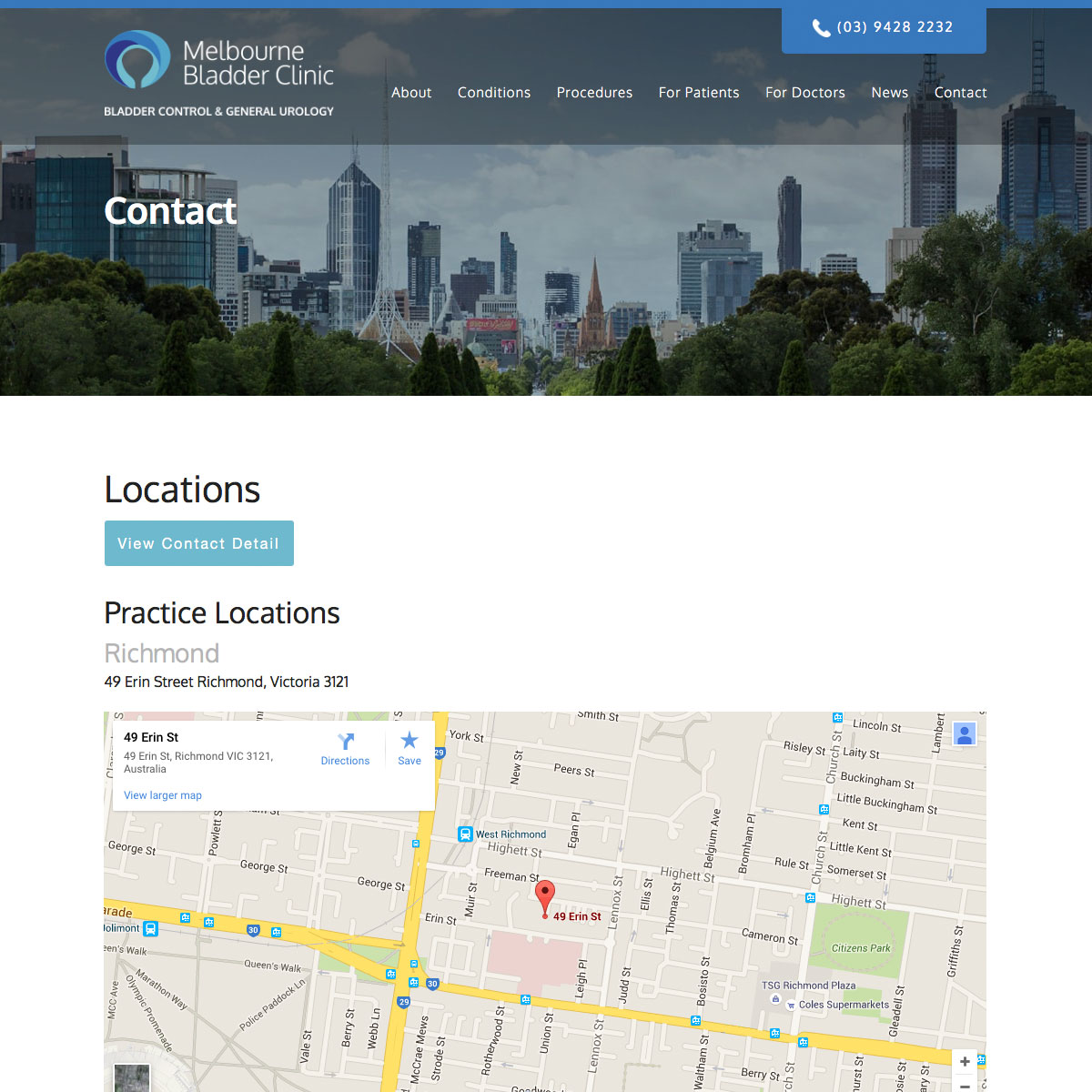 Melbourne Bladder Clinic Locations