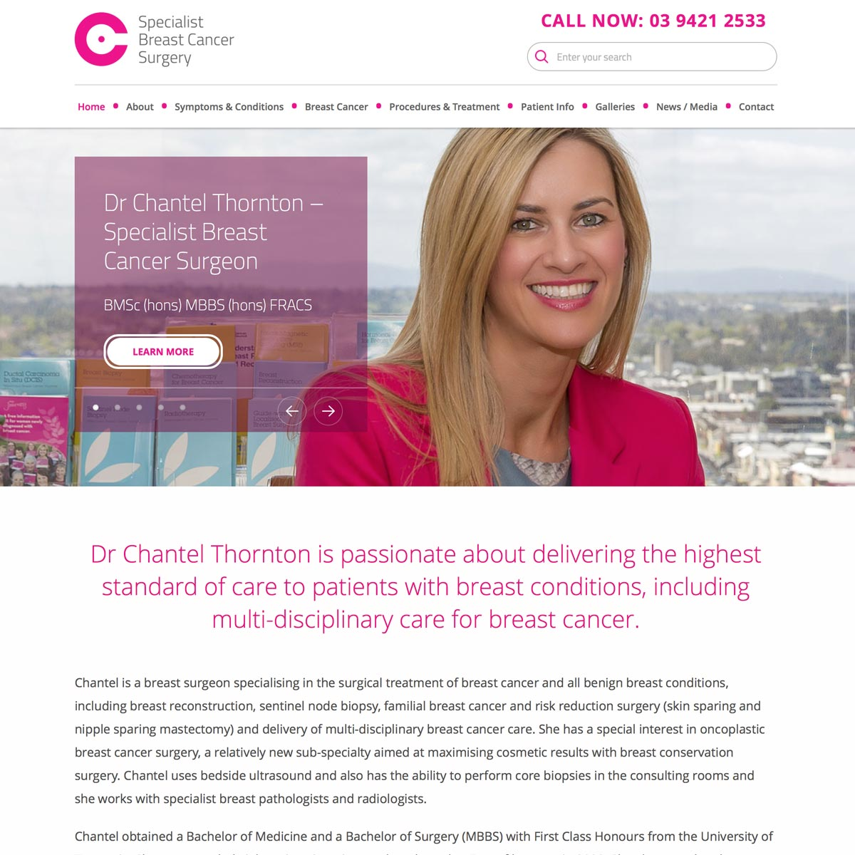 Breast Cancer Specialist - Home