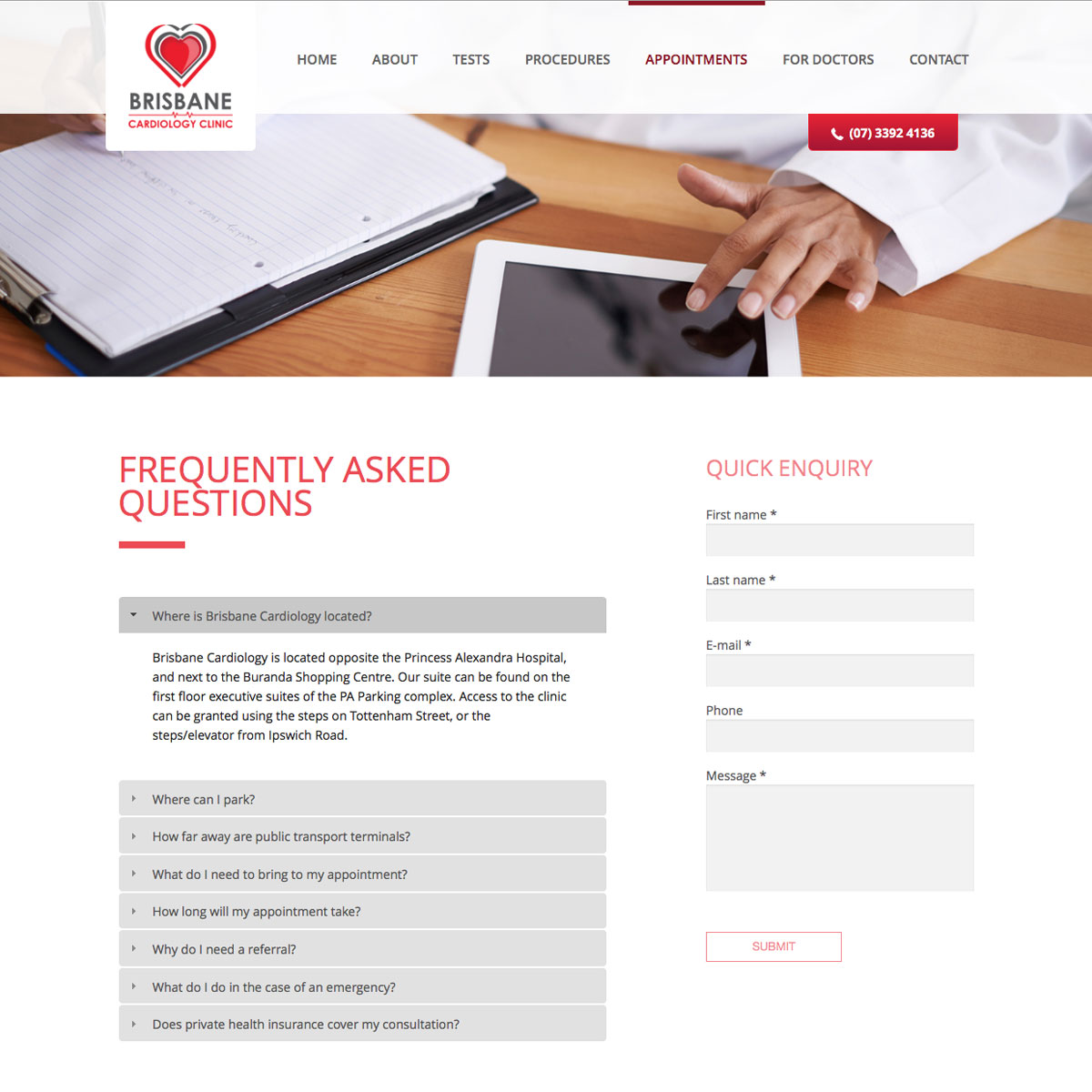 Brisbane Cardiology Clinic FAQ's