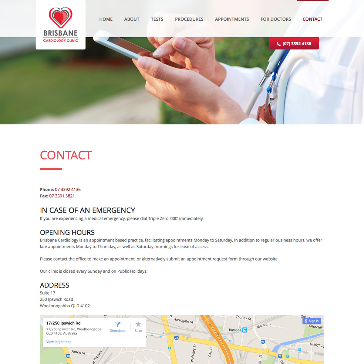 Brisbane Cardiology Clinic Contact
