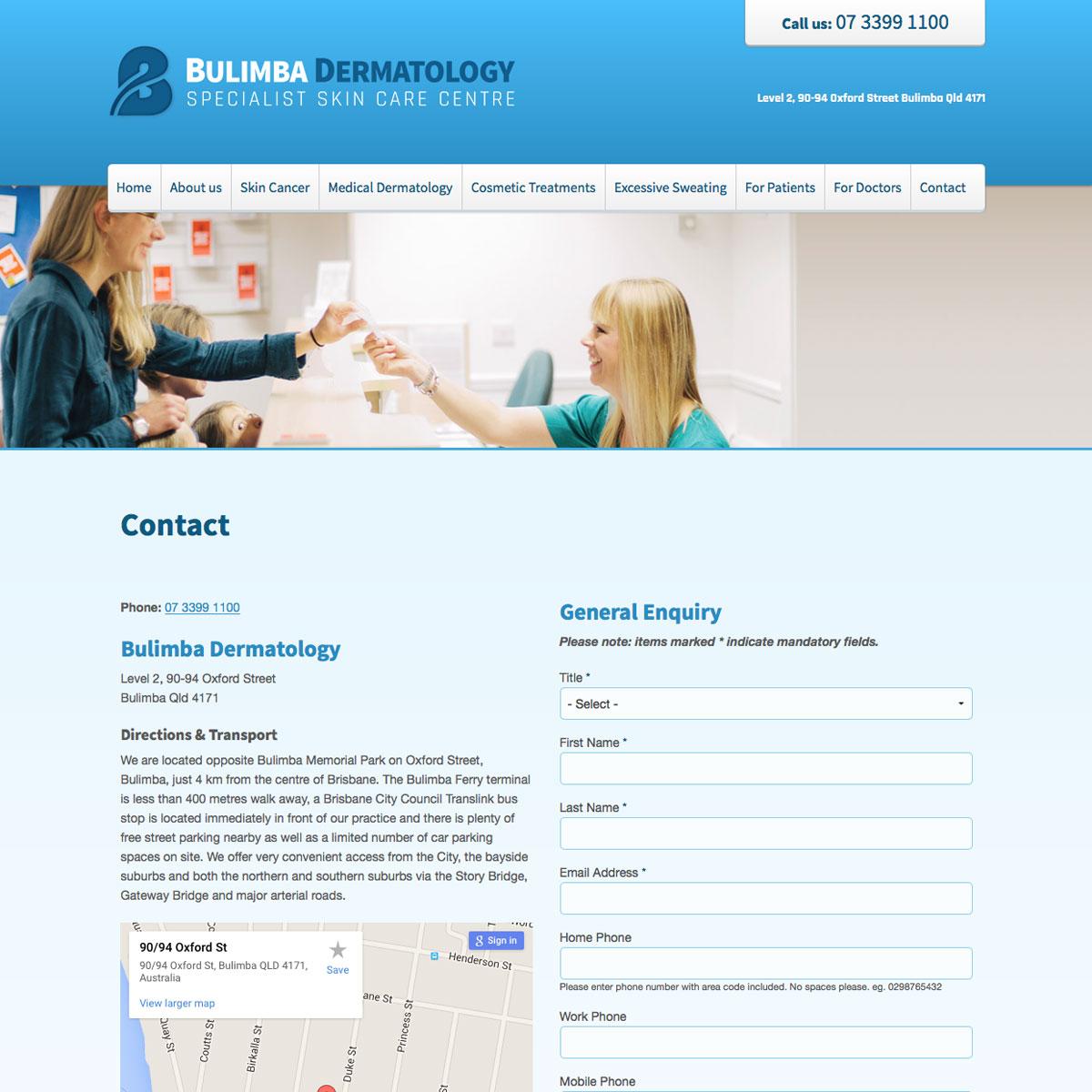 Bulimba Dermatology Contact