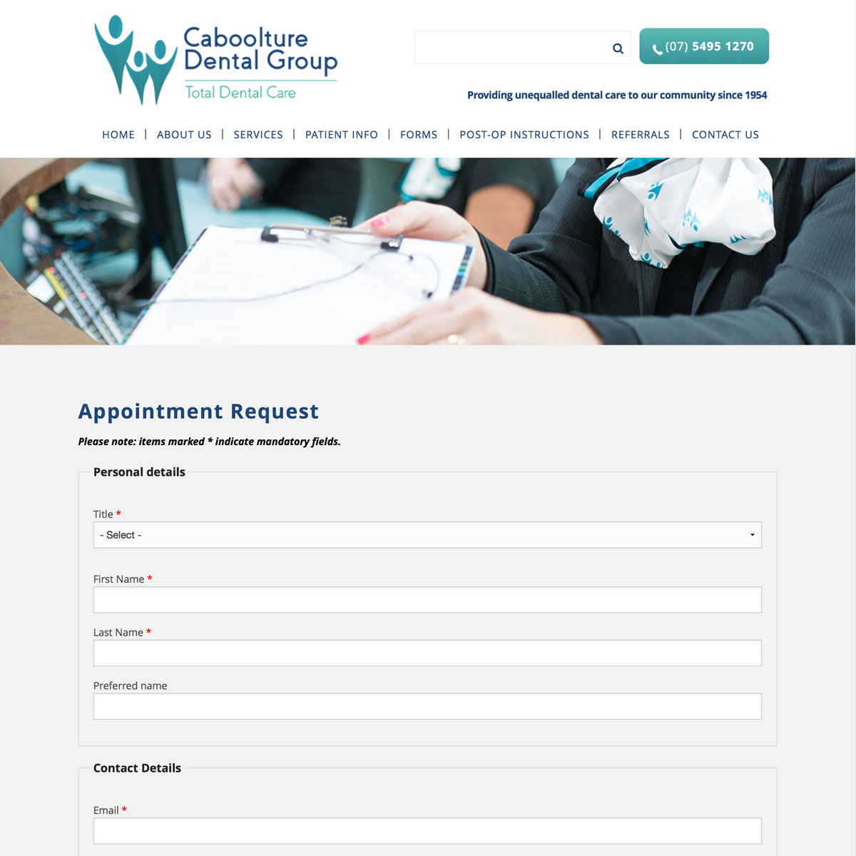 Caboolture Dental - Appointment Request