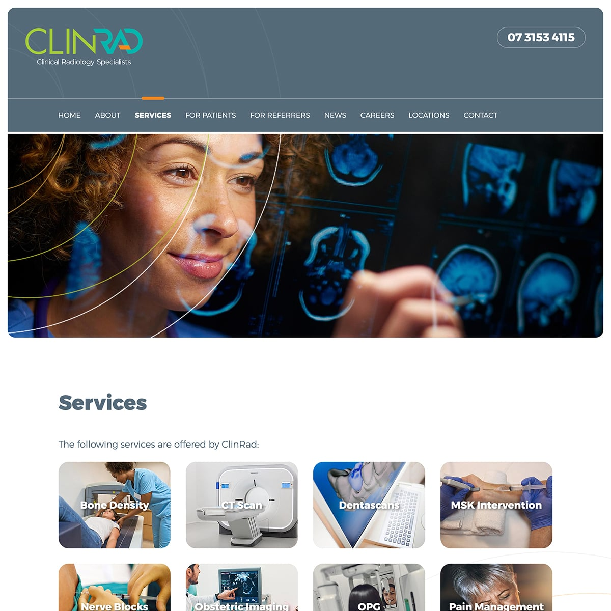 ClinRad - Services Index