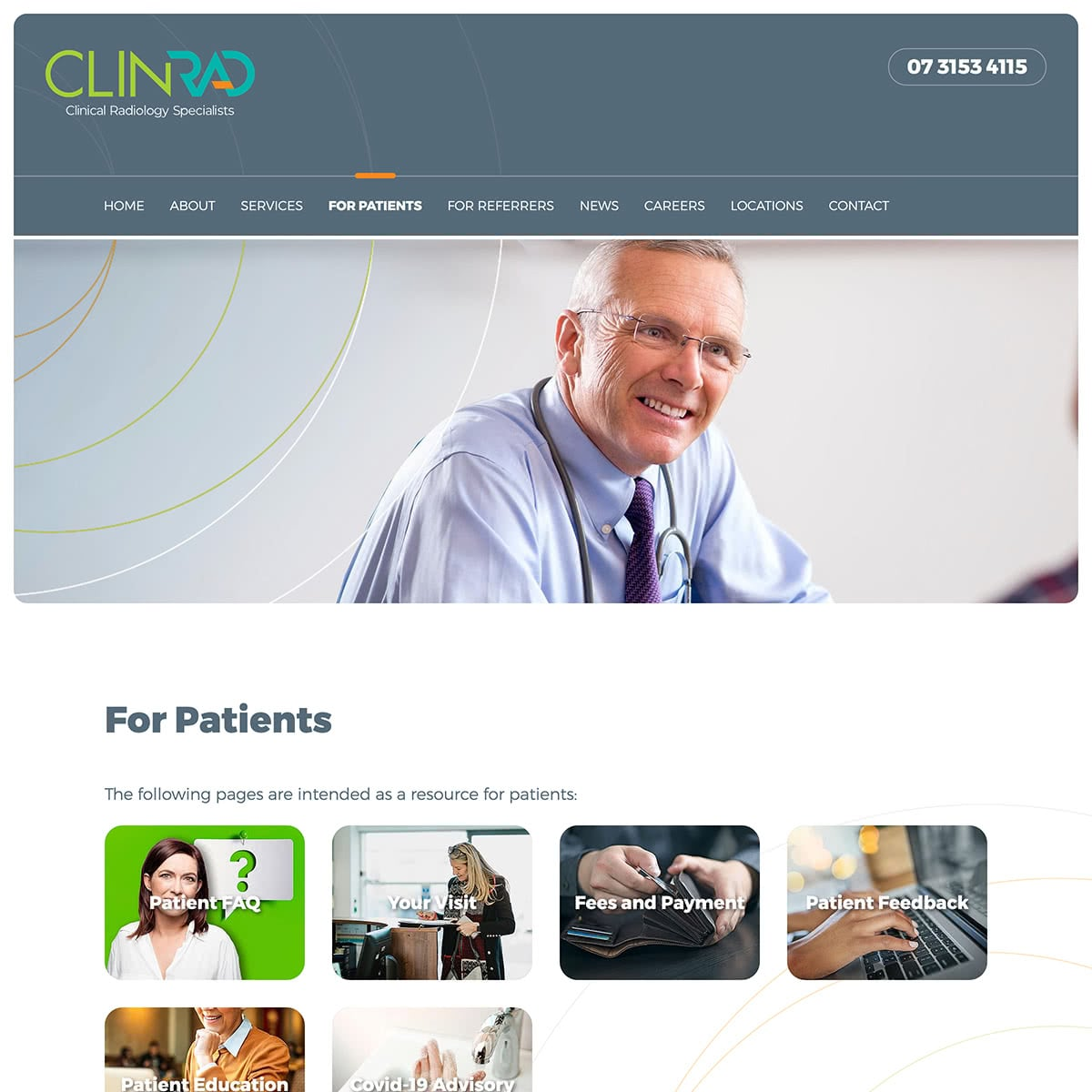ClinRad - For Patients Index