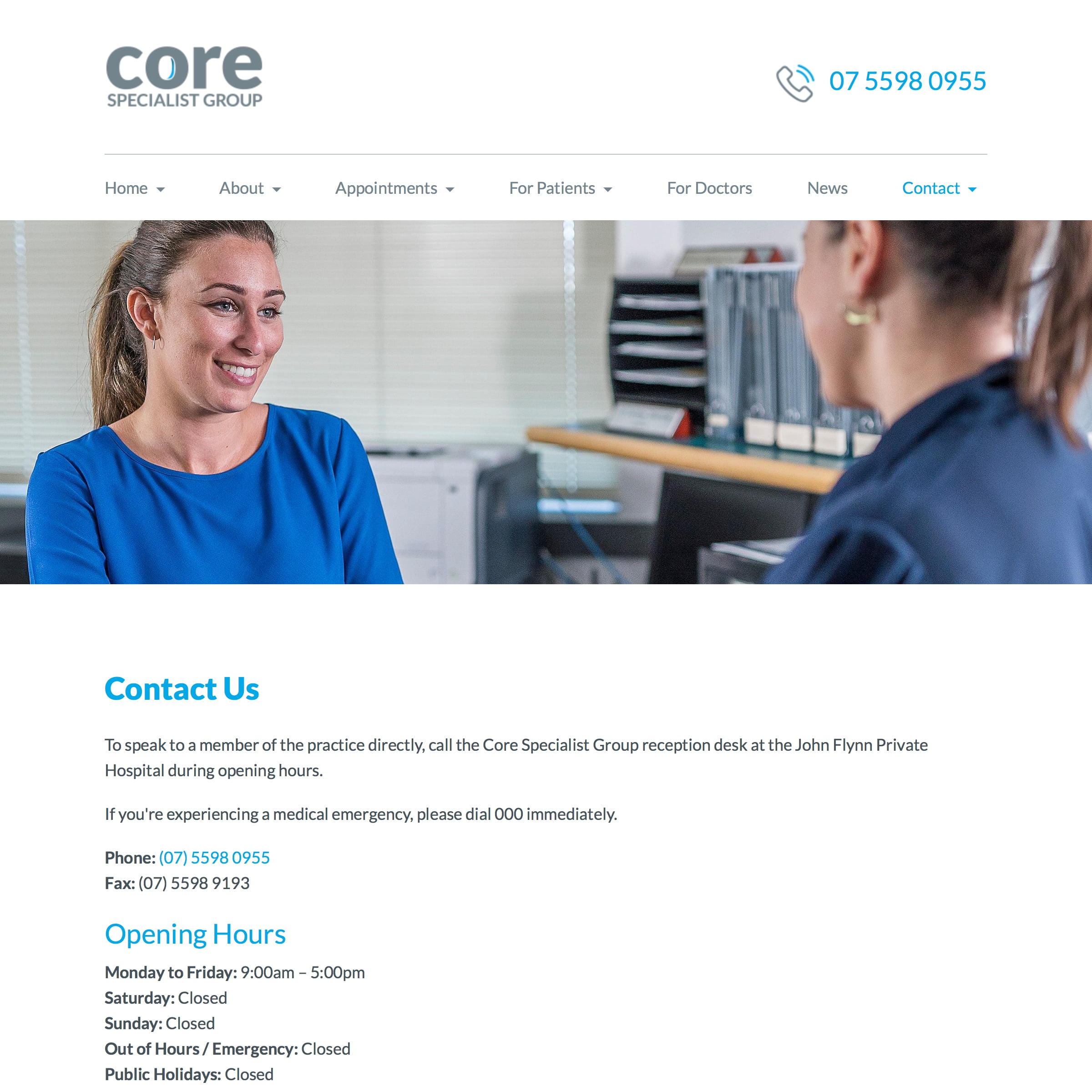 Core Specialist Group - Contact Us