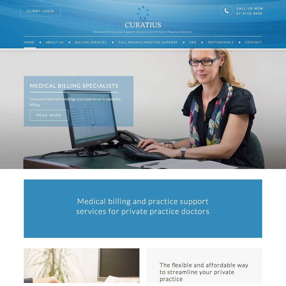 Curatius Home Page