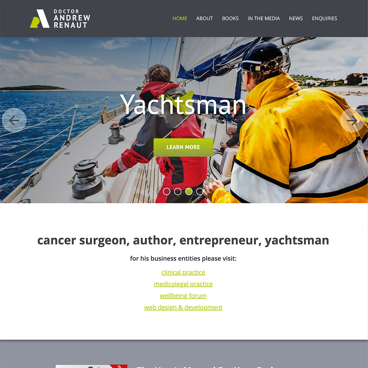 Dr Andrew Renaut - Homepage Banner - Yachtsman