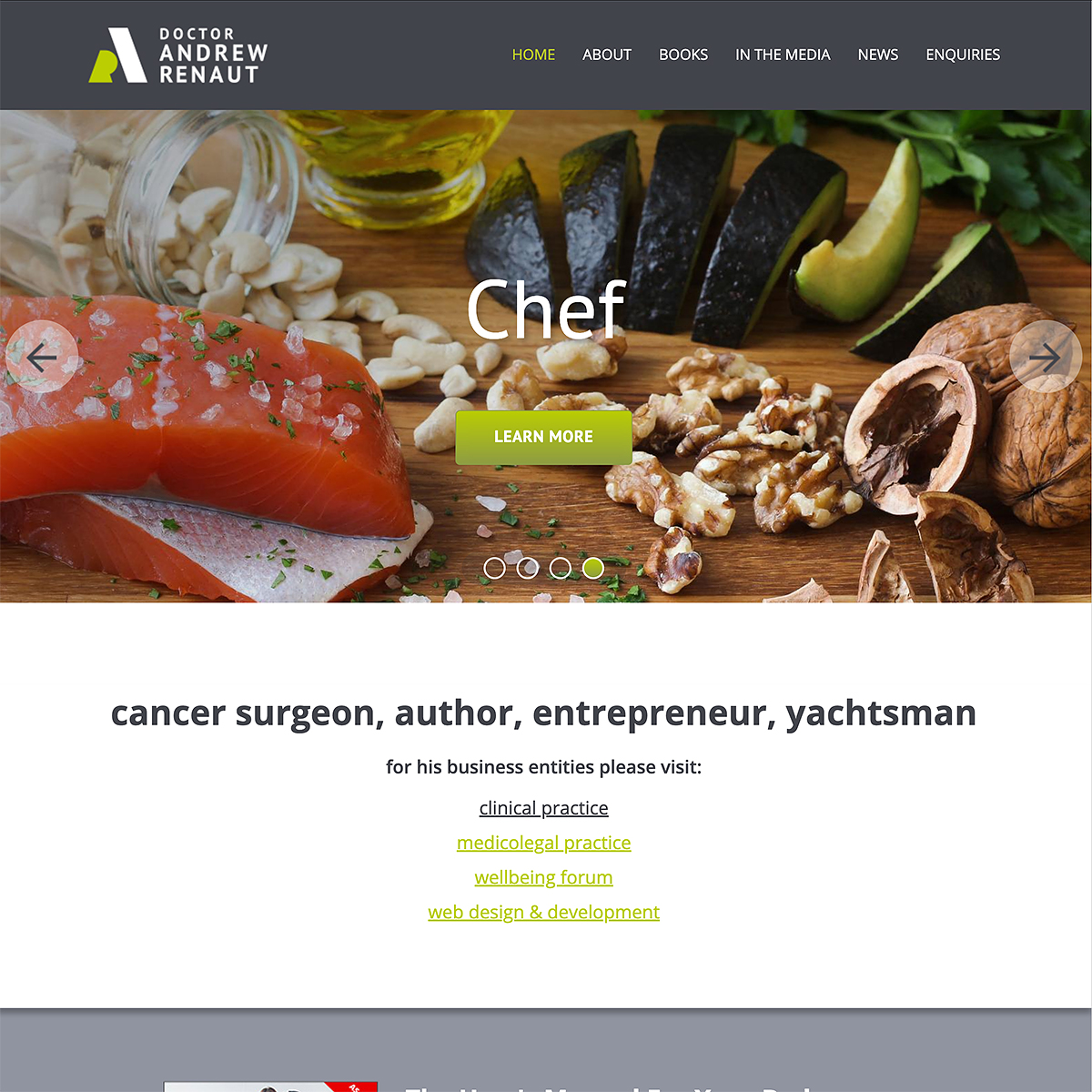 Dr Andrew Renaut - Homepage Banner - Chef