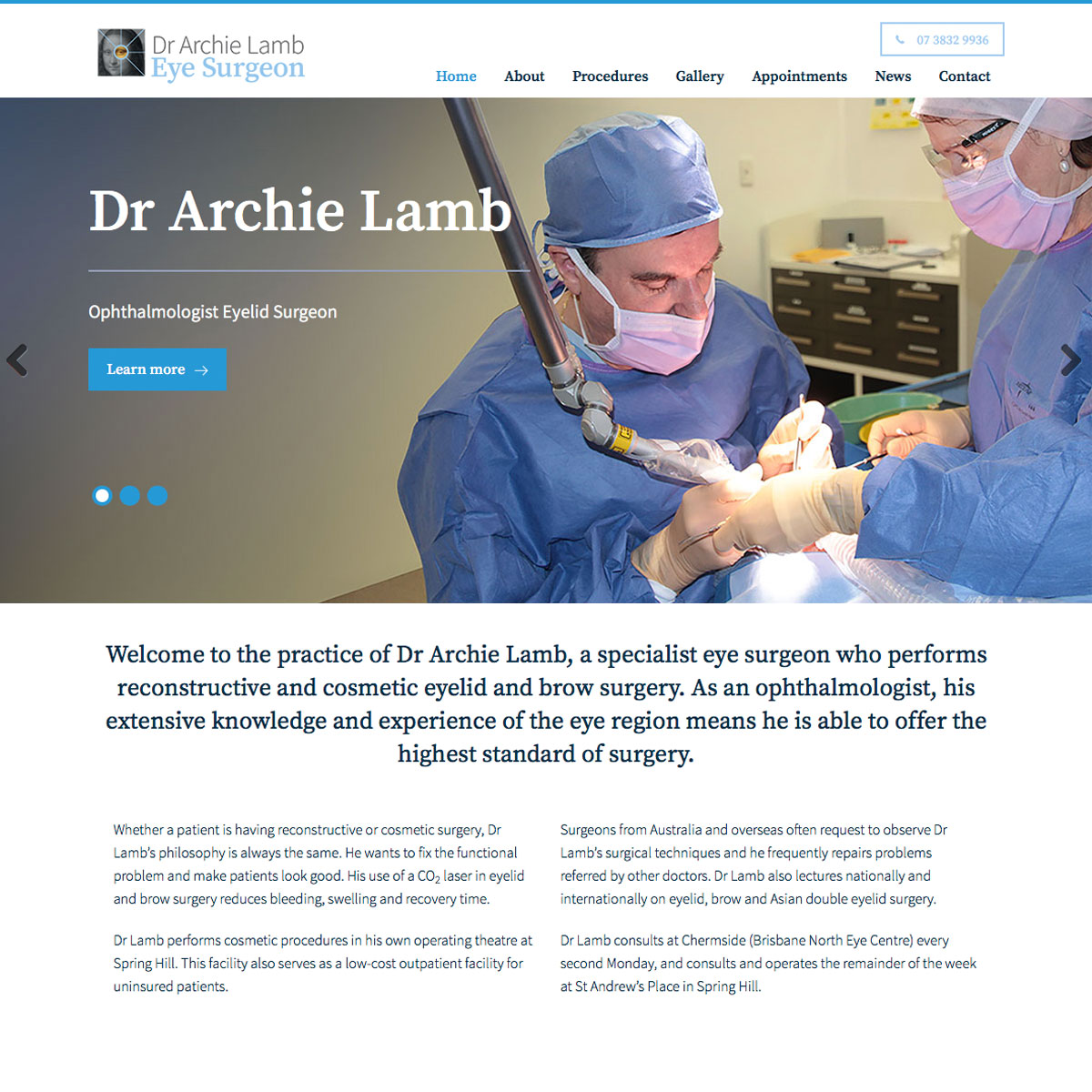 Dr Archie Lamb - Home Page