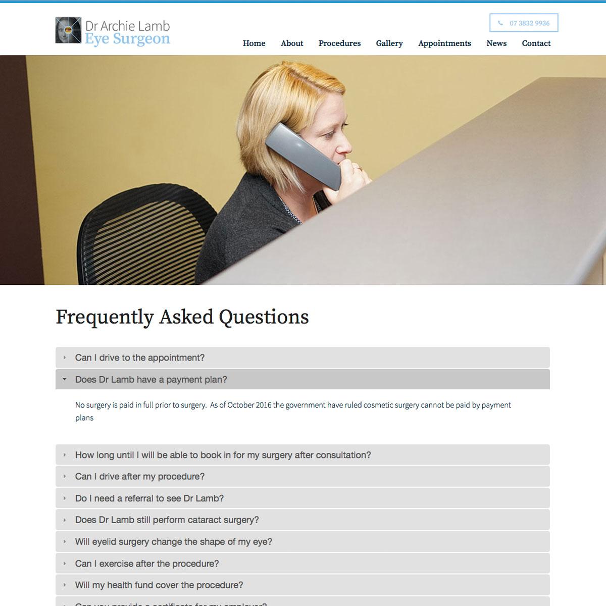 Dr Archie Lamb - FAQ
