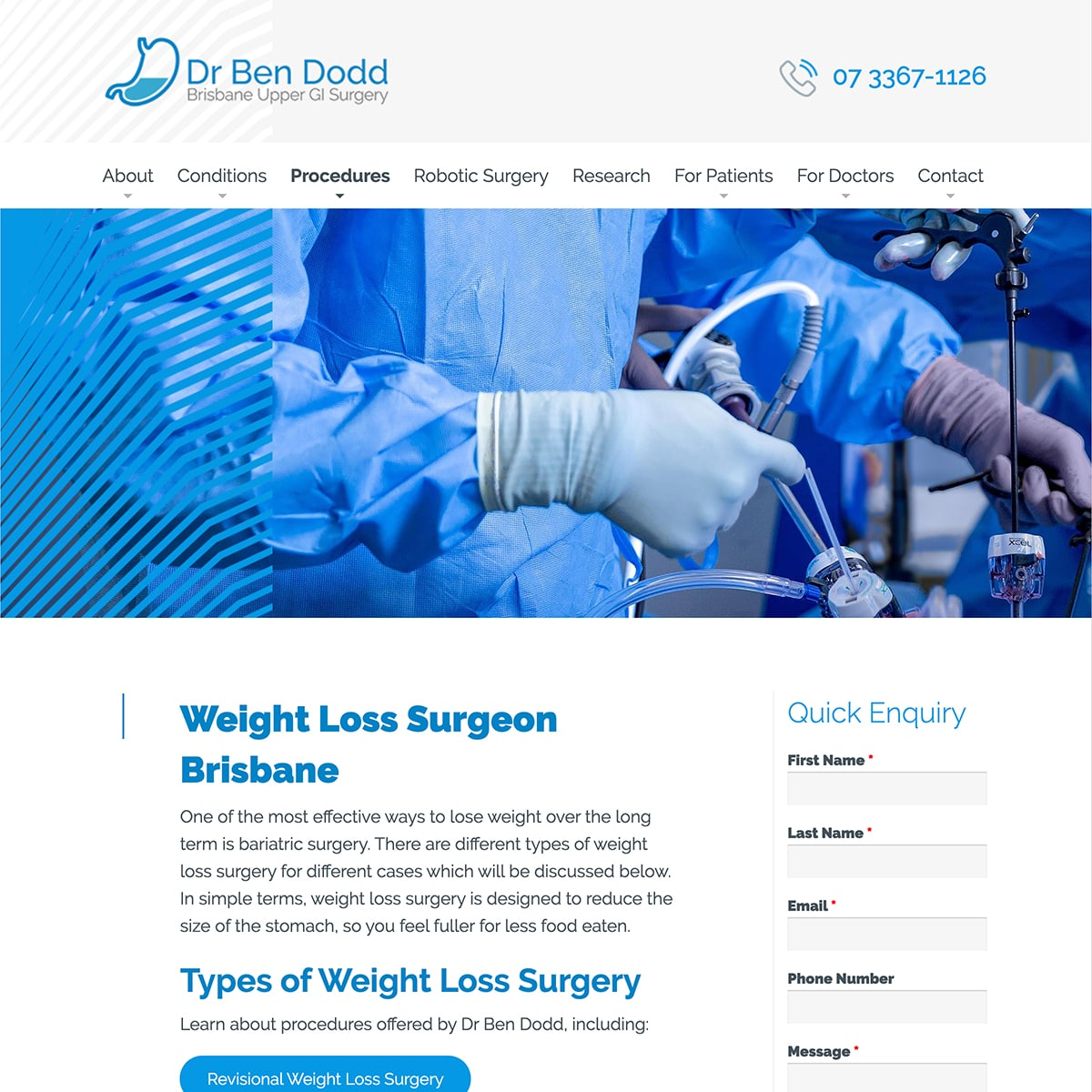 Dr Ben Dodd - Procedures