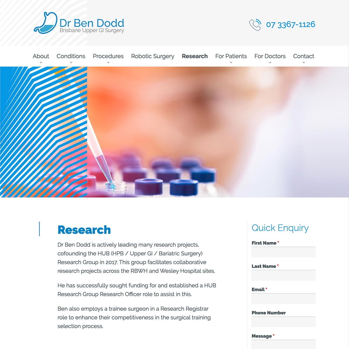 Dr Ben Dodd - Research