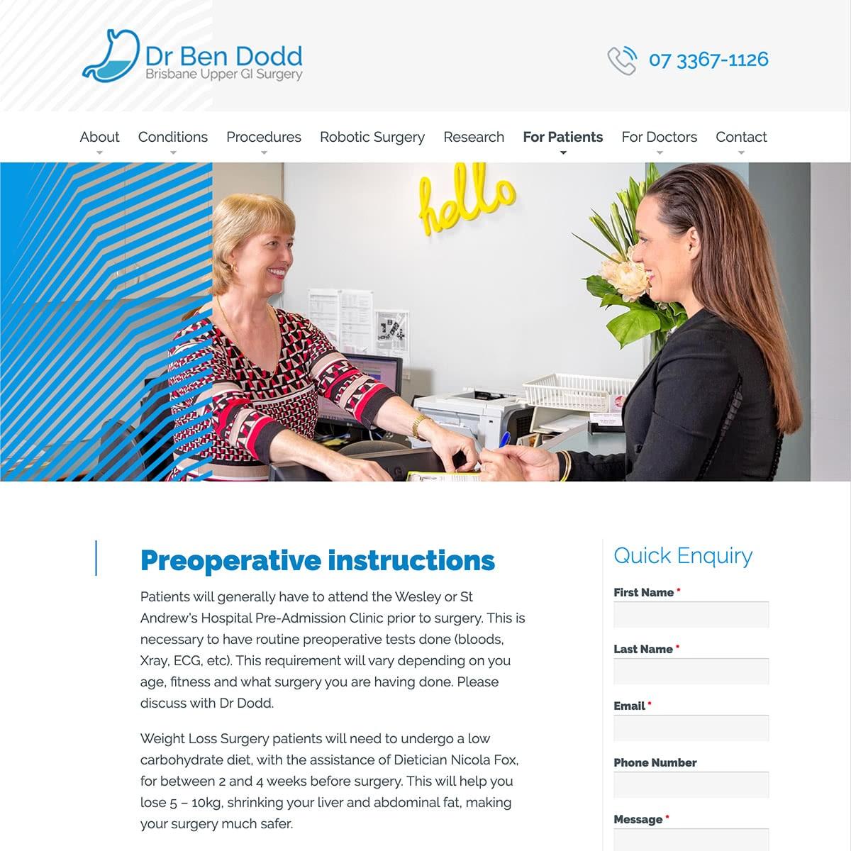 Dr Ben Dodd - For Patients