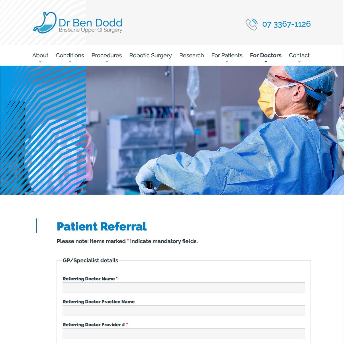 Dr Ben Dodd - For Doctors