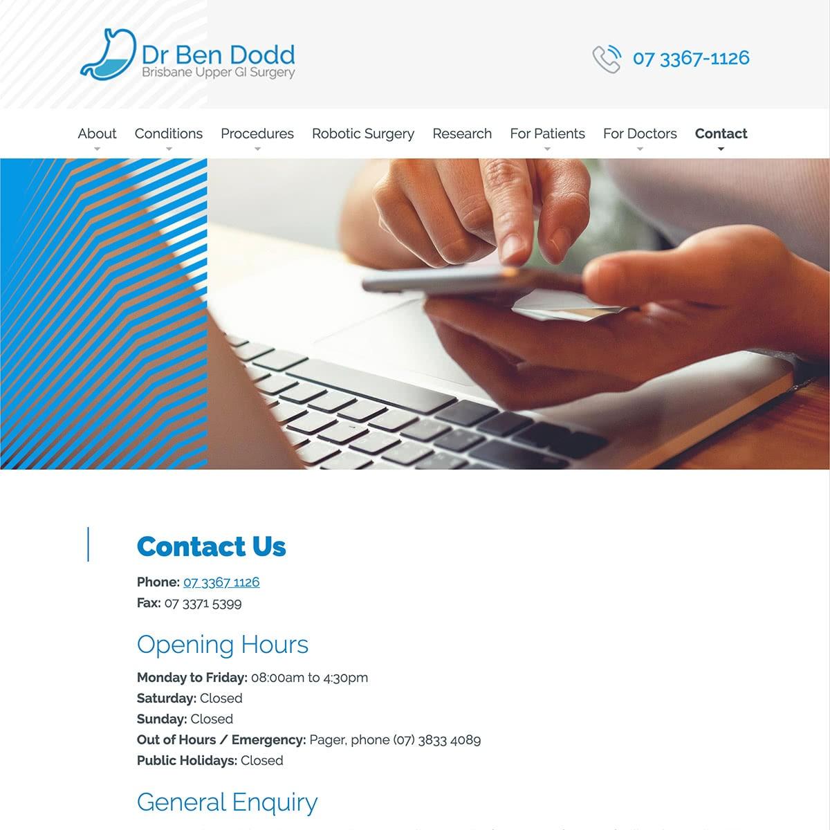 Dr Ben Dodd - Contact