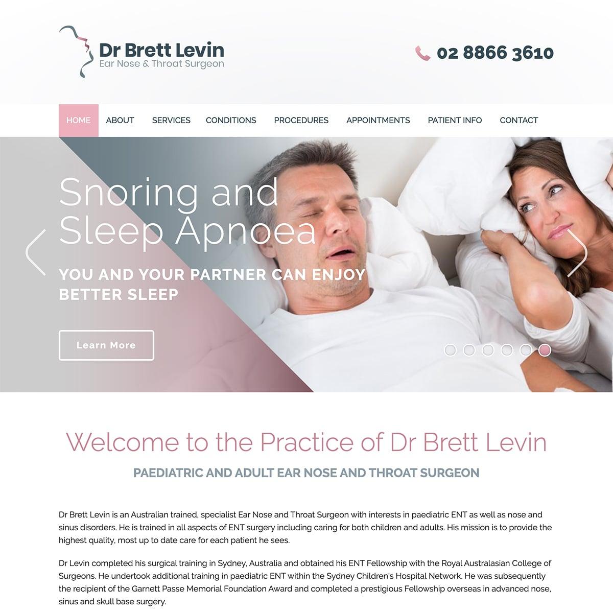 Dr Brett Levin - Homepage Slide 3
