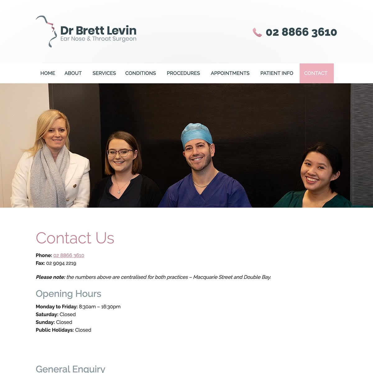 Dr Brett Levin - Contact Us
