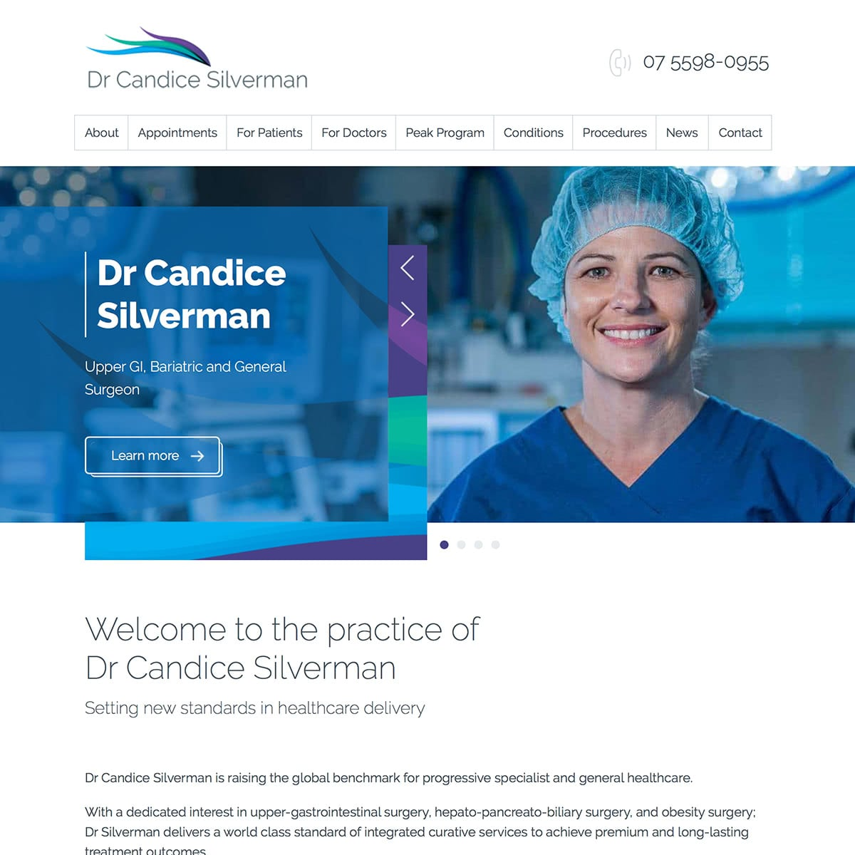 Dr Candice Silverman - Homepage