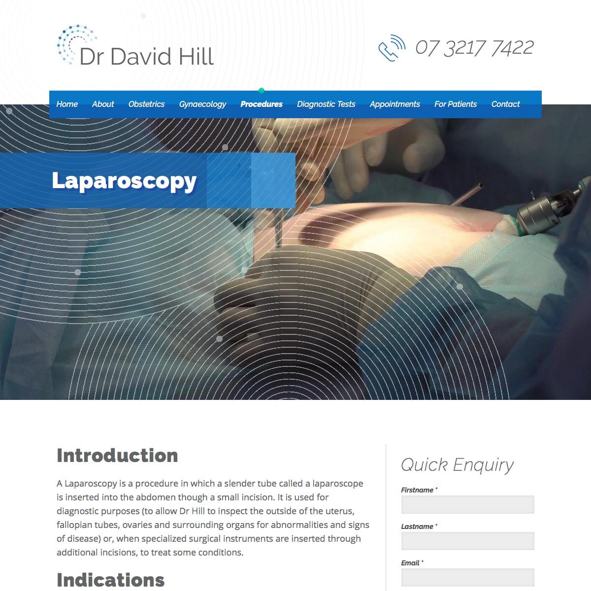 Dr David Hill - Laparoscopy