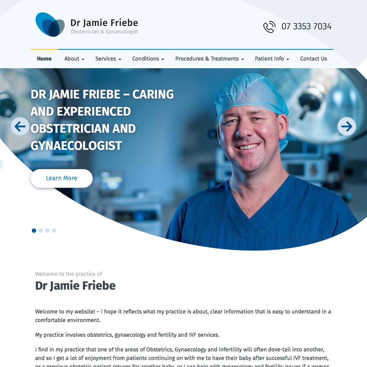 Dr Jamie Friebe - Home