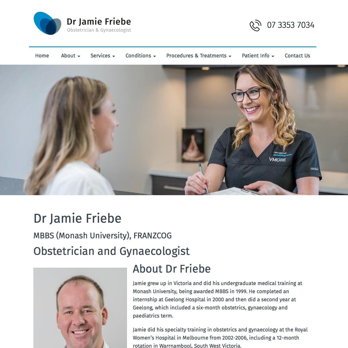 Dr Jamie Friebe - Dr Bio