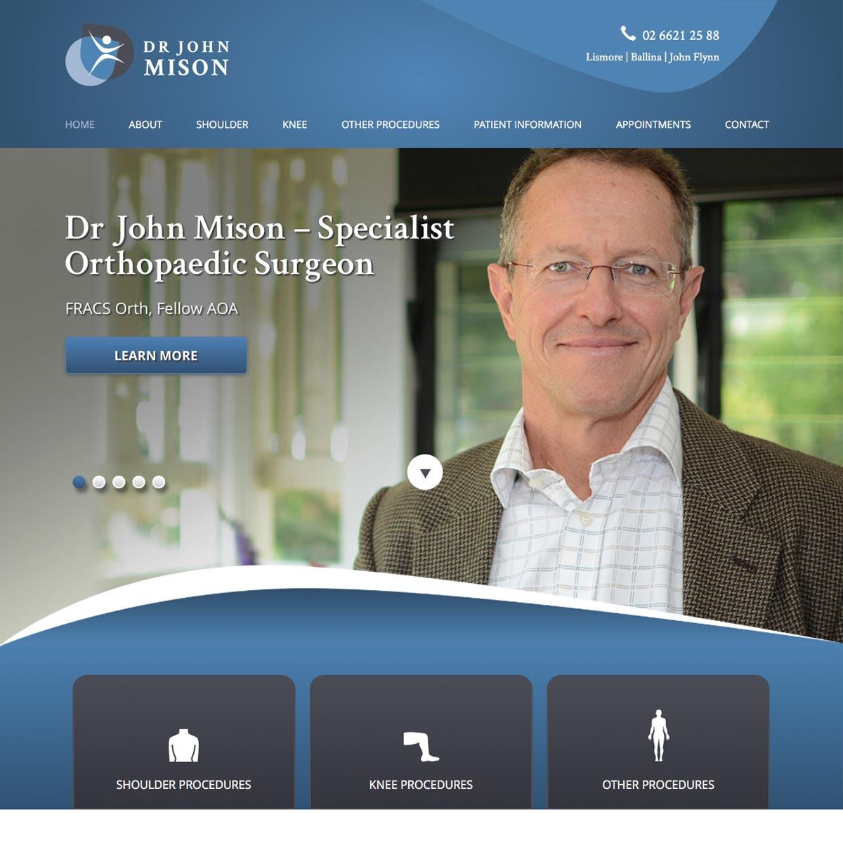 Dr John Mison Homepage