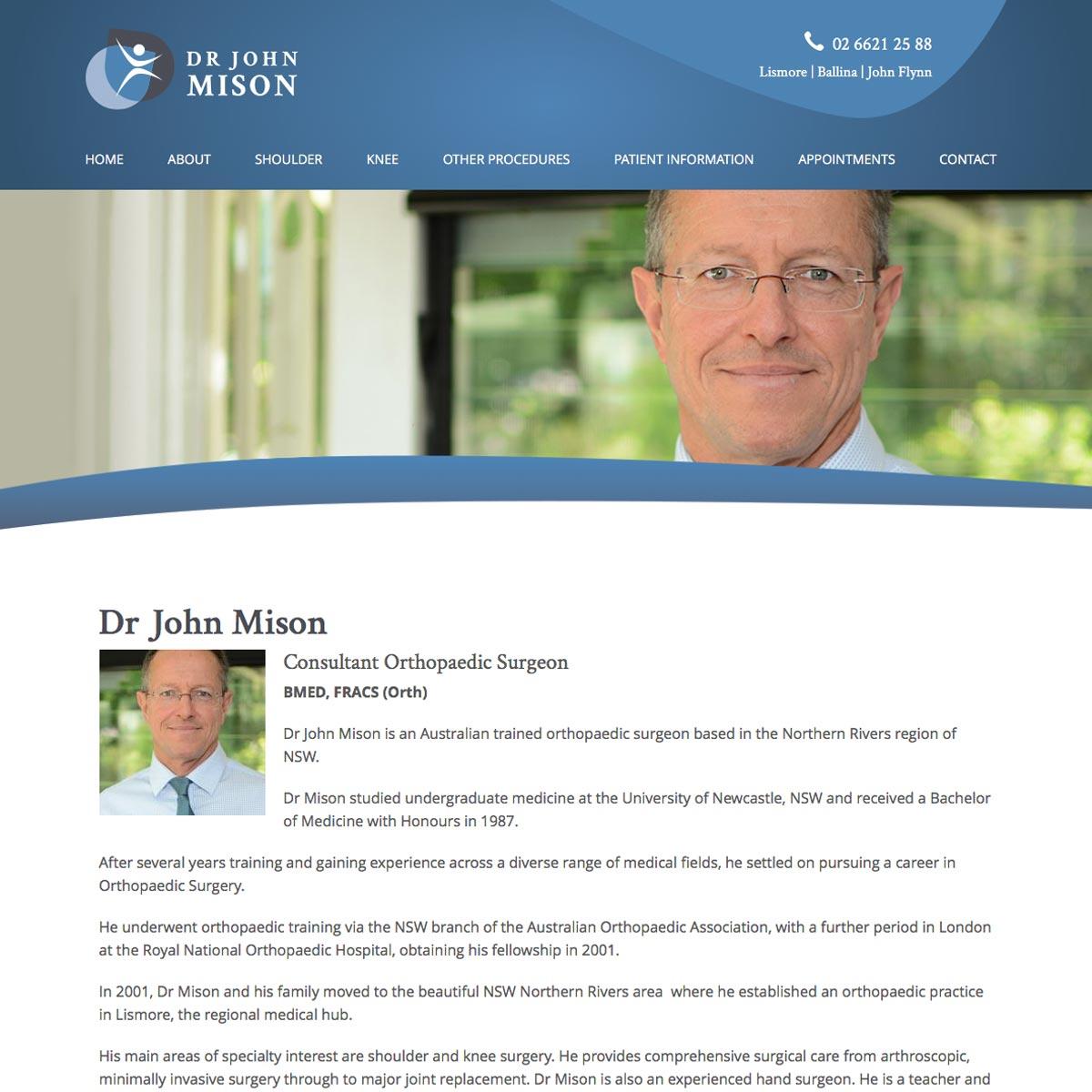 Dr John Mison About