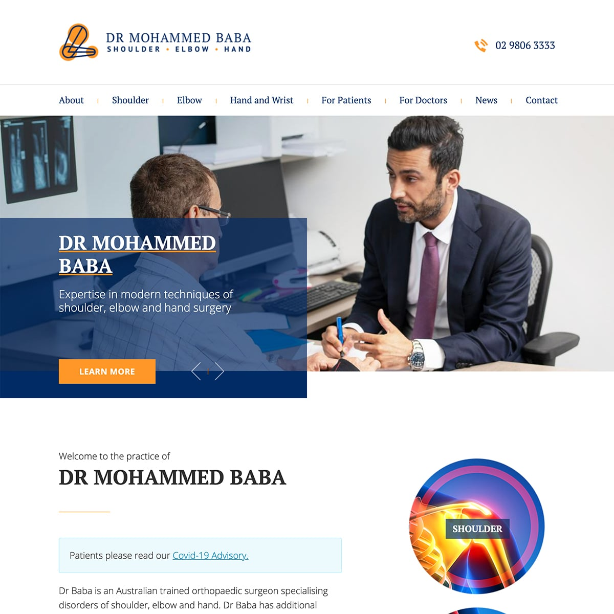 Dr Mohammed Baba - Homepage Banner