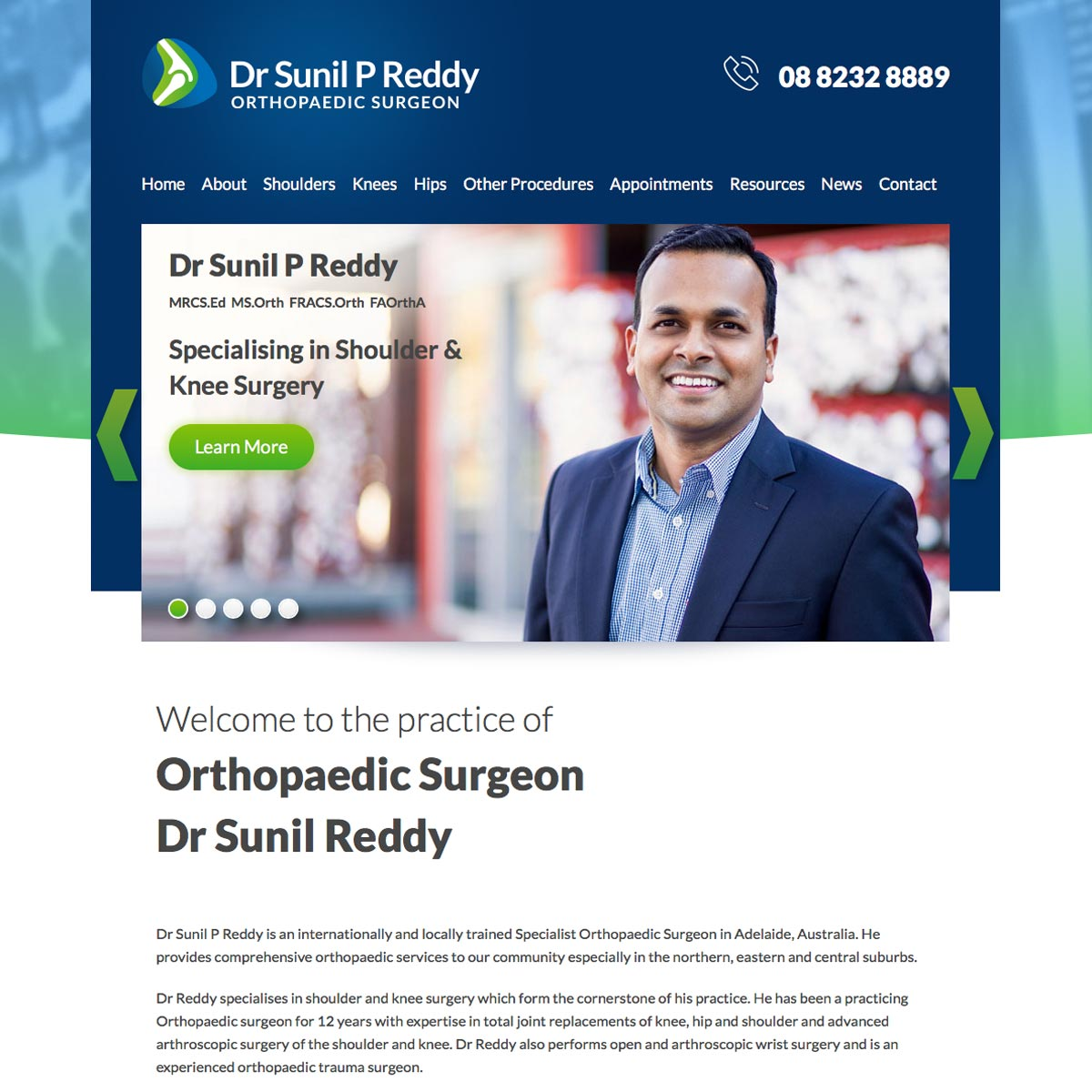 Dr Sunil Reddy - Home Page