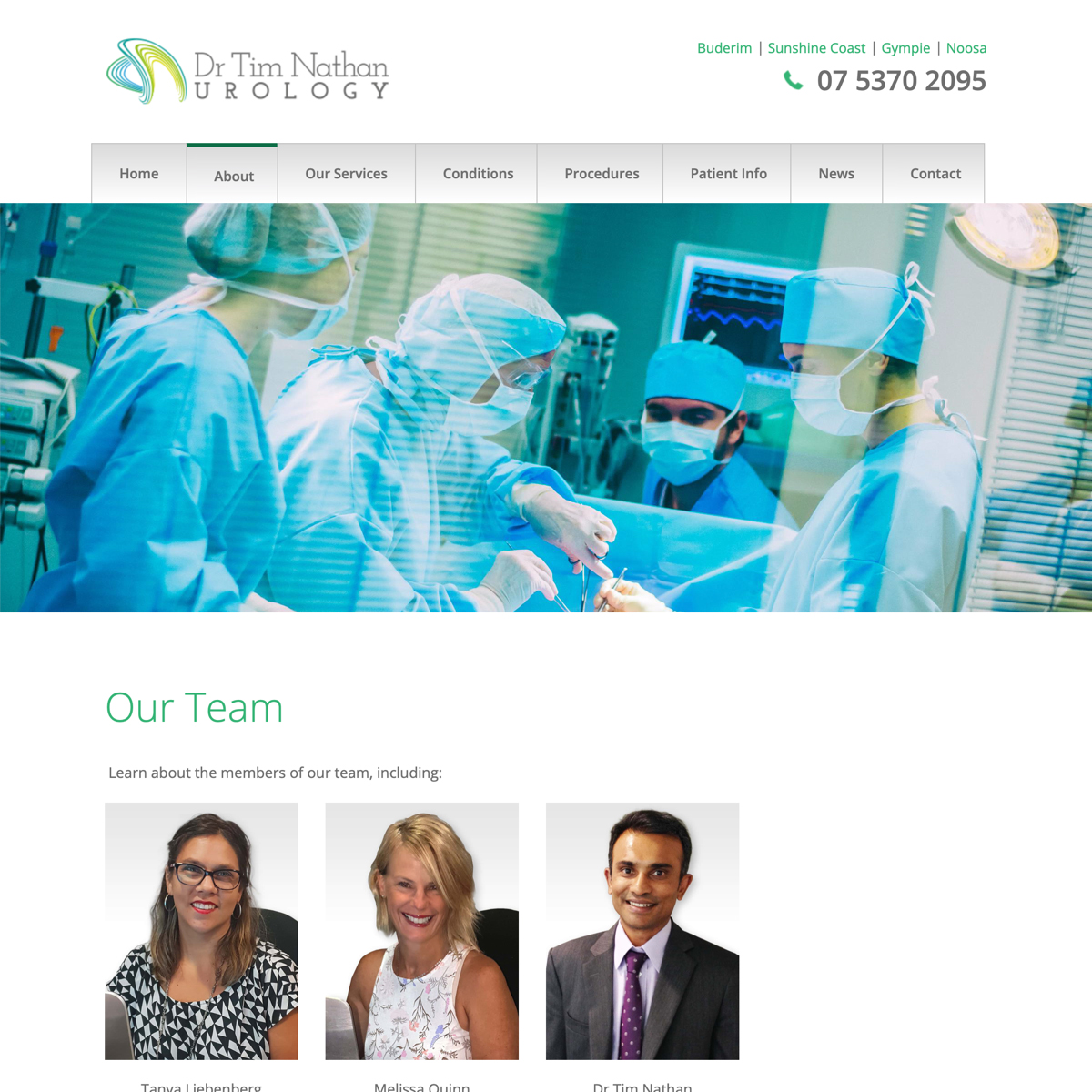 Dr Tim Nathan Urology - Our Team