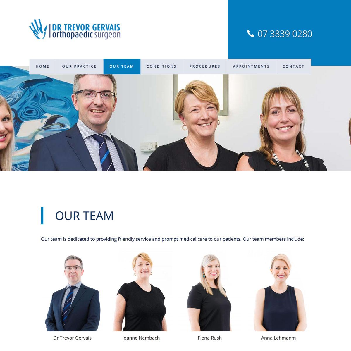 Dr Trevor Gervais - Our Team Index
