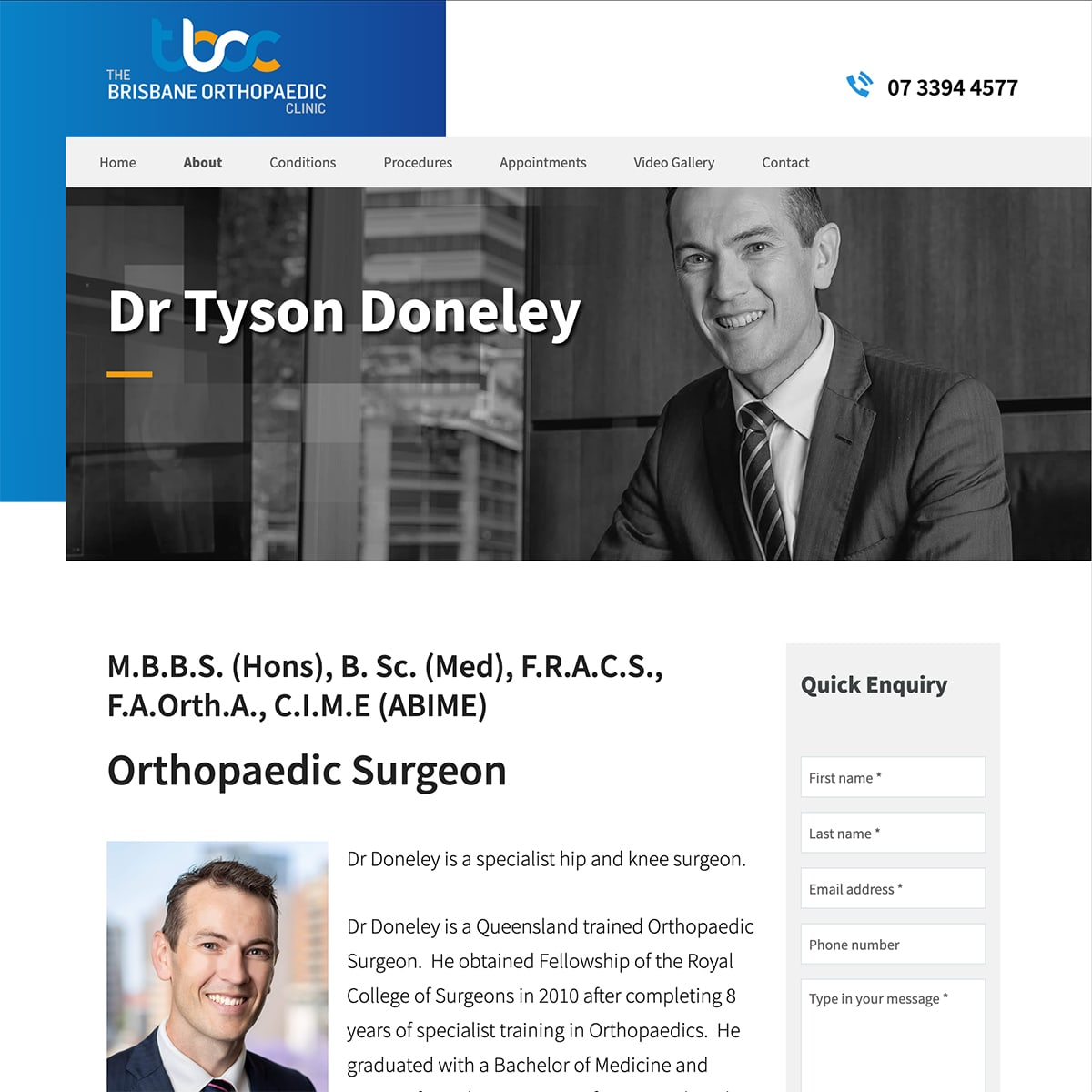 Dr Tyson Doneley - Bio Page