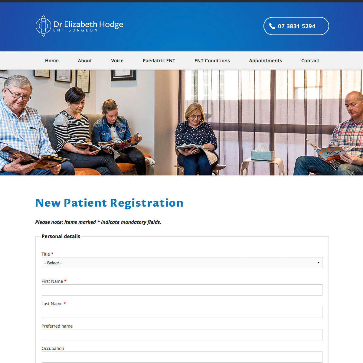 Dr Elizabeth Hodge - Patient Registration Form