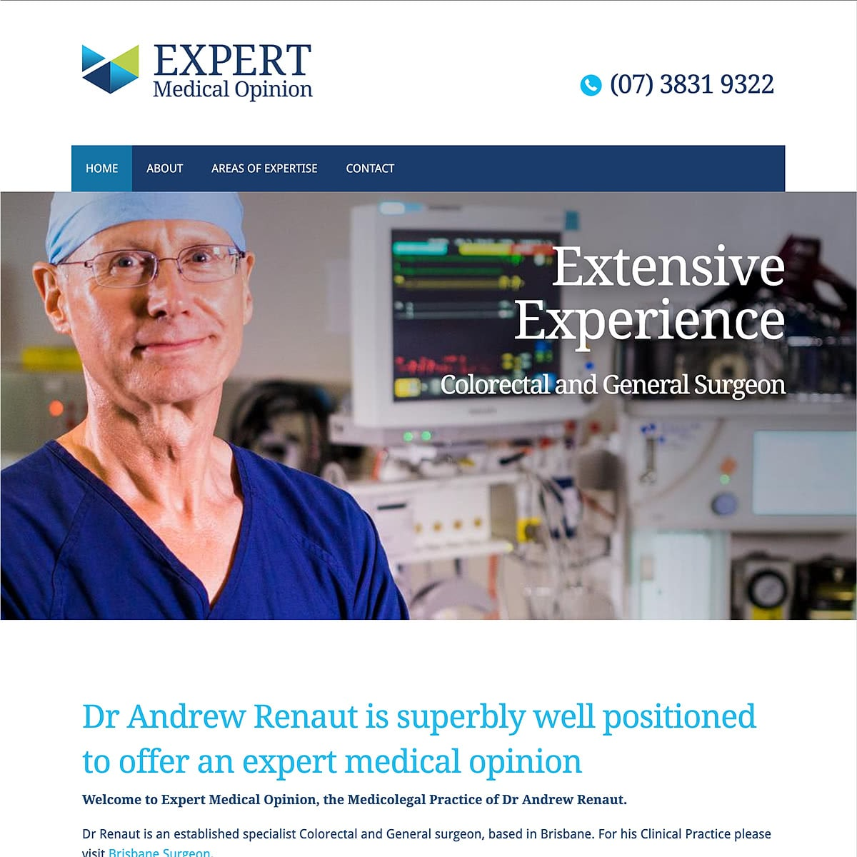 Expert Medical Opinion - Homepage Banner - Extensive Experience