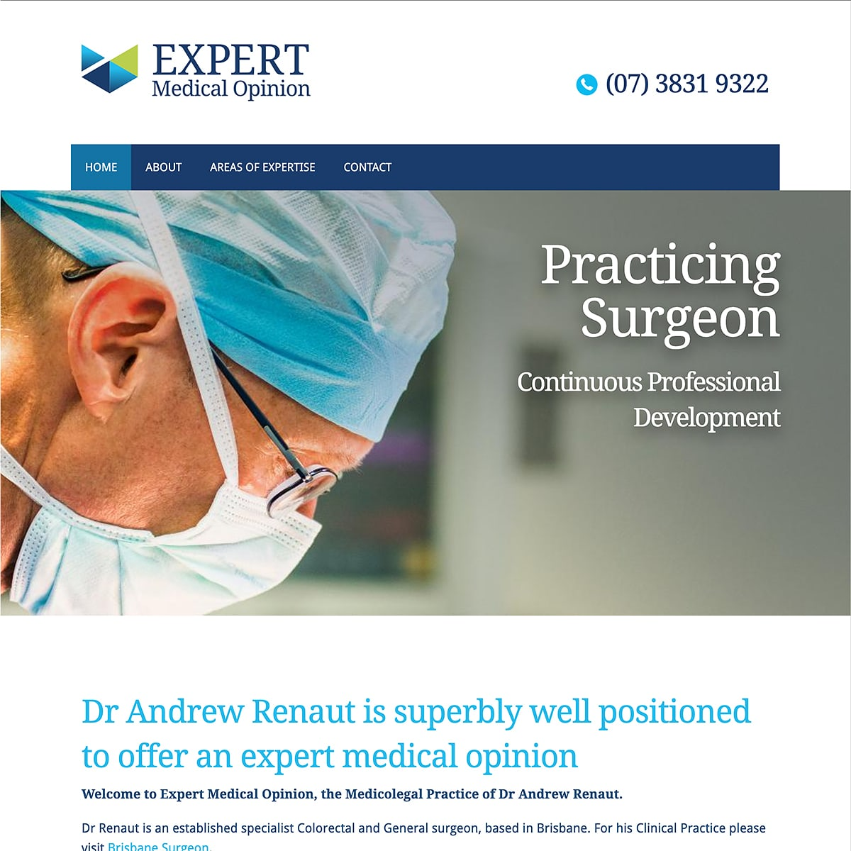 Expert Medical Opinion - Homepage Banner - Practicing Surgeon