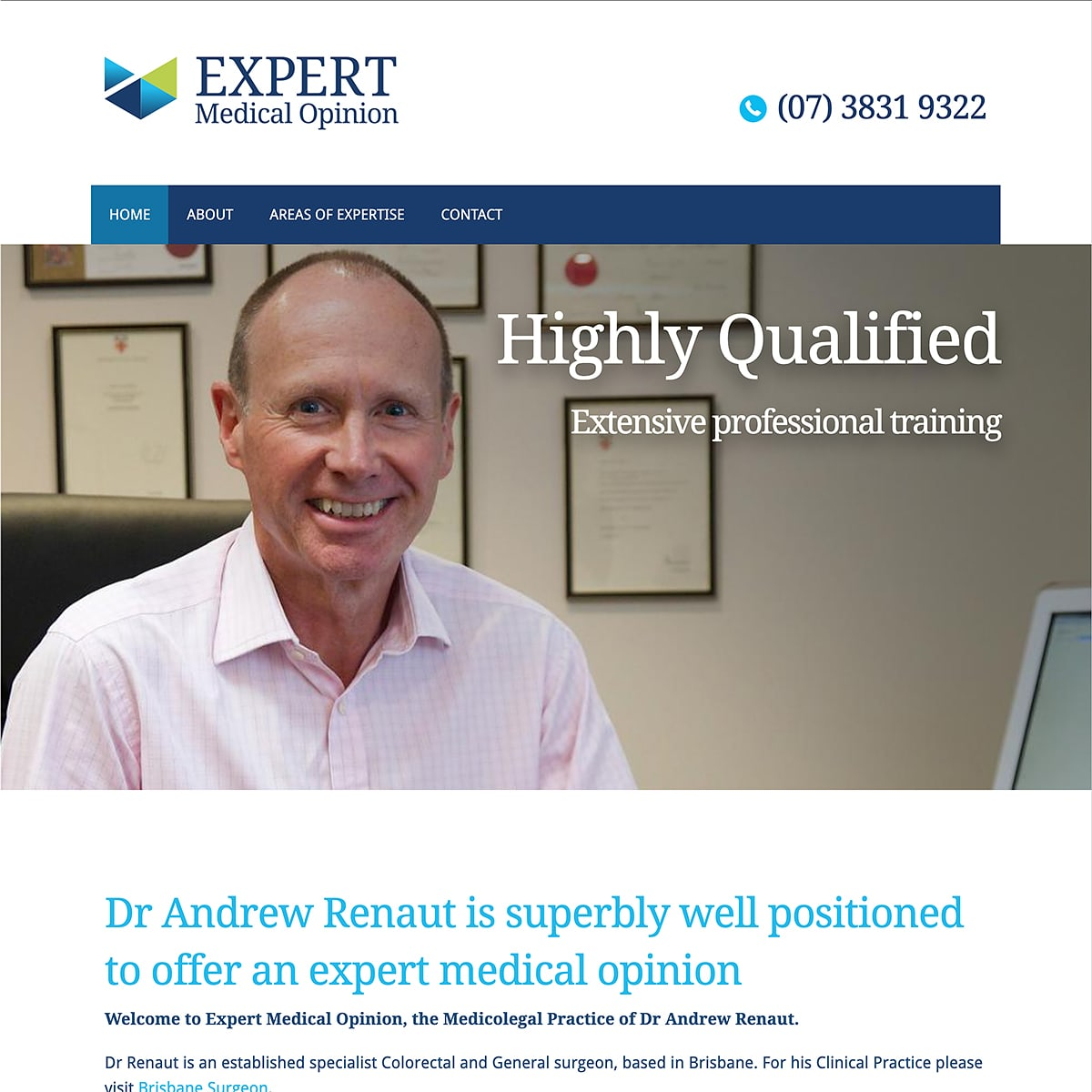 Expert Medical Opinion - Homepage Banner - Highly Qualified