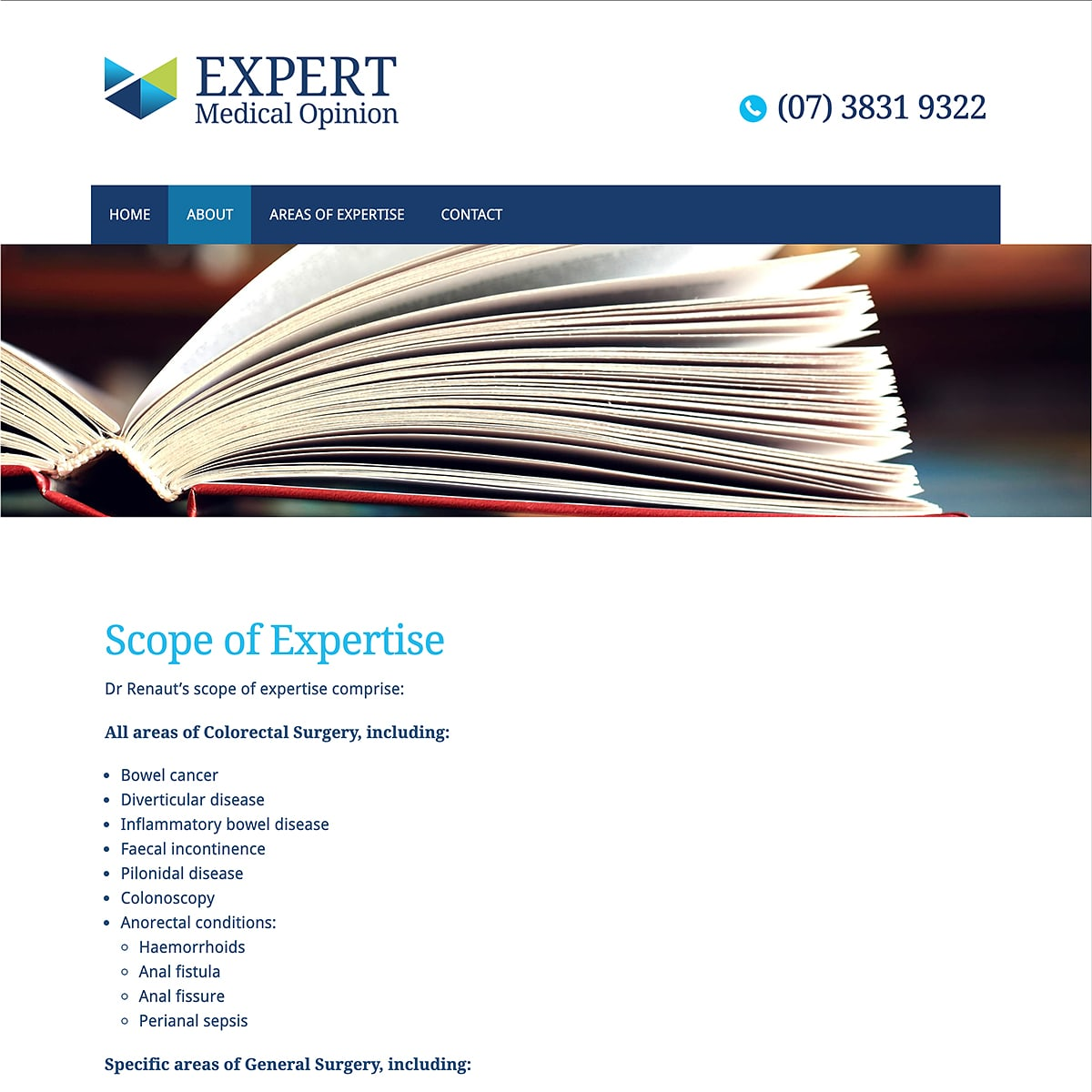 Expert Medical Opinion - Scope of Expertise