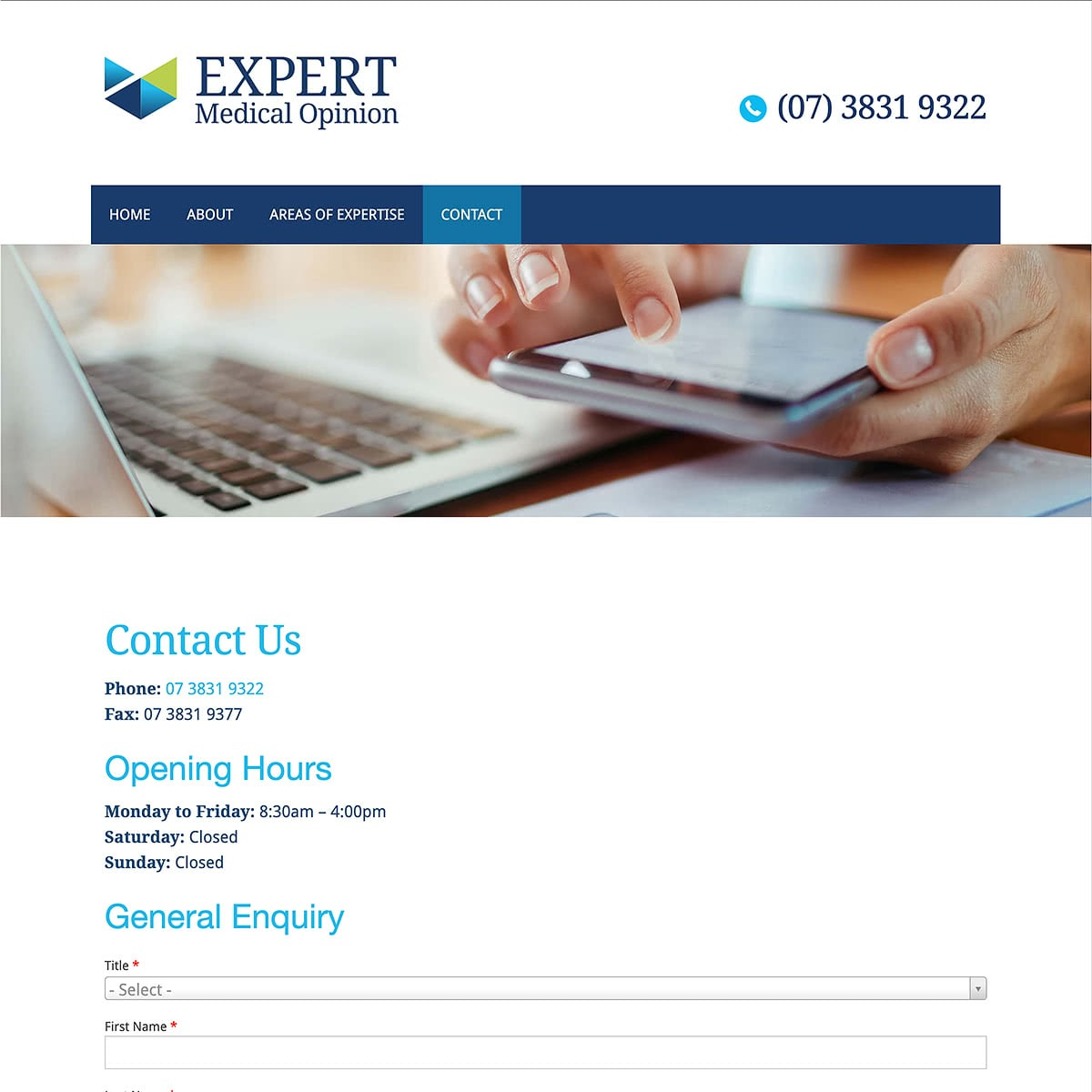 Expert Medical Opinion - Contact Us