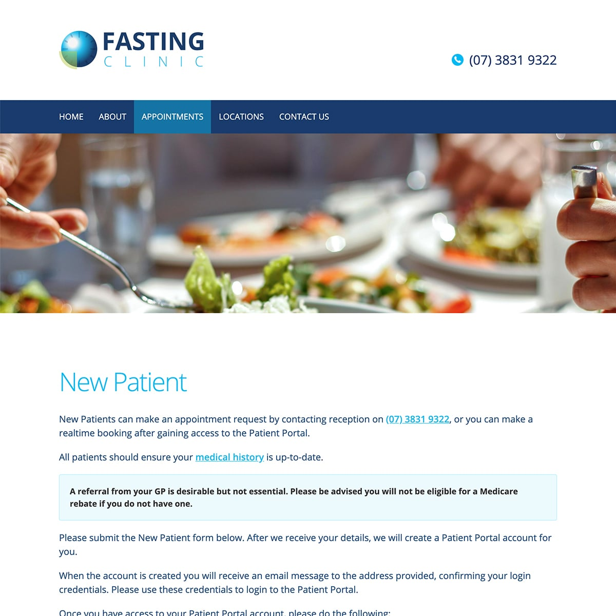 Fasting Clinic - Appointments