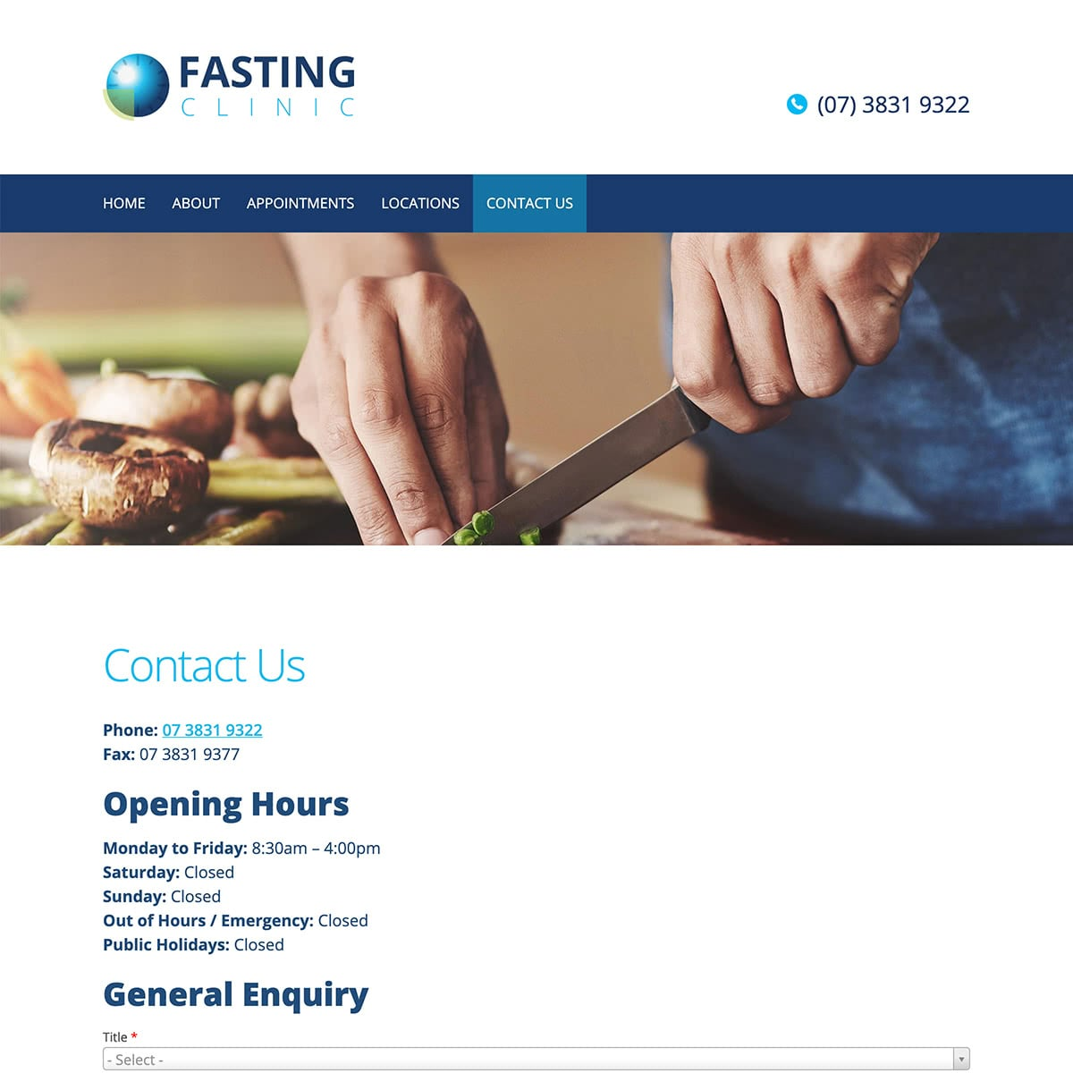 Fasting Clinic - Contact Us