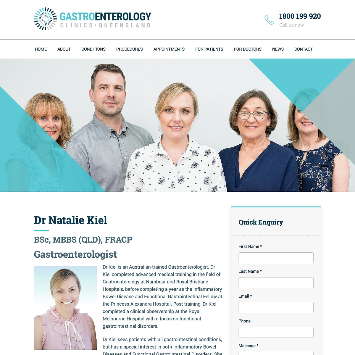 Gastroenterology Clinics Queensland - Bio