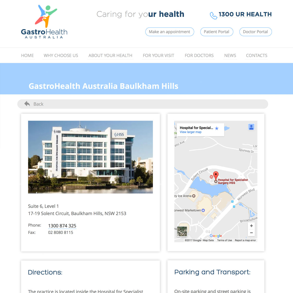 Gastro Health - Location