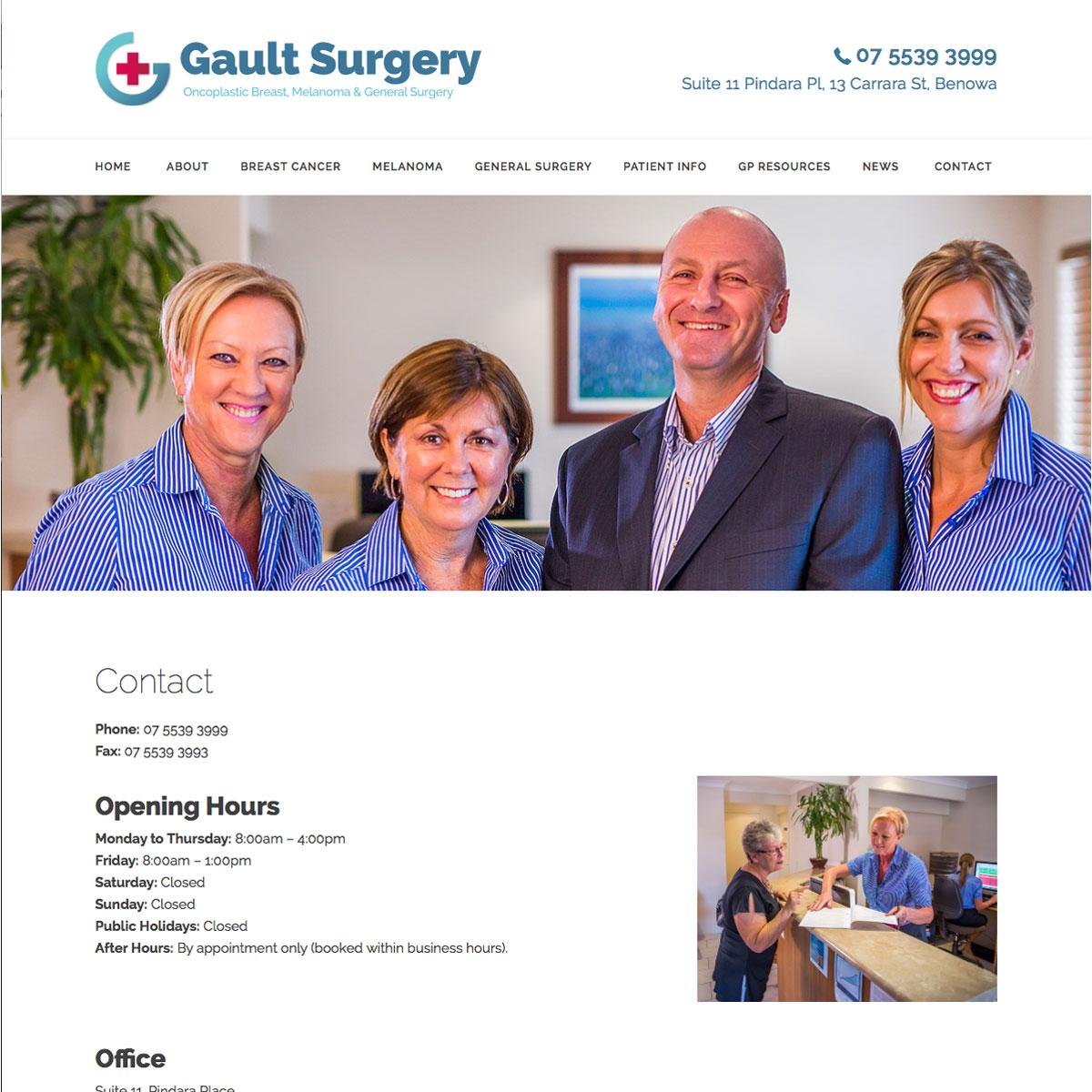 Gault Surgery Contact