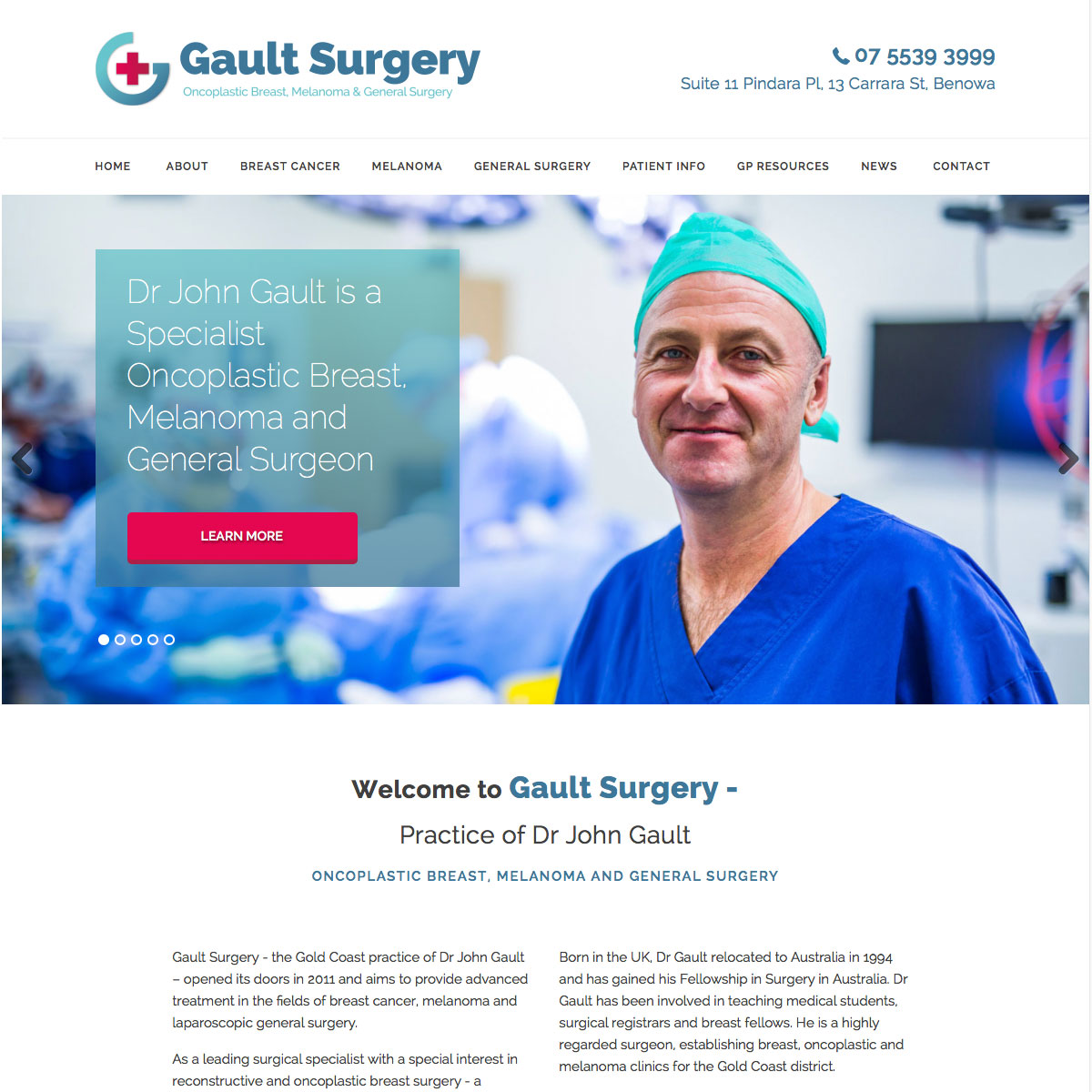 Gault Surgery Home Page