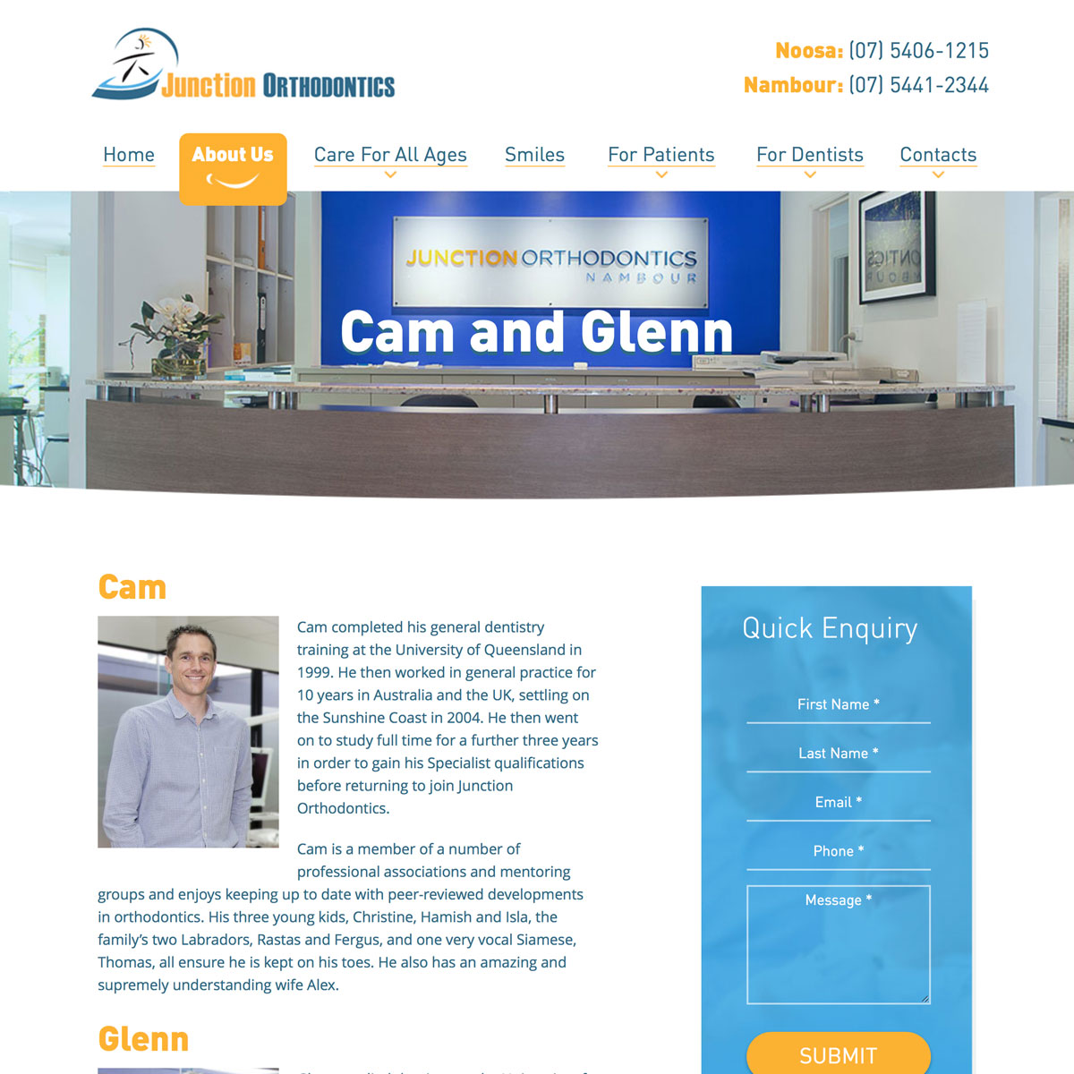 Junction Orthodontics - Cam and Glenn